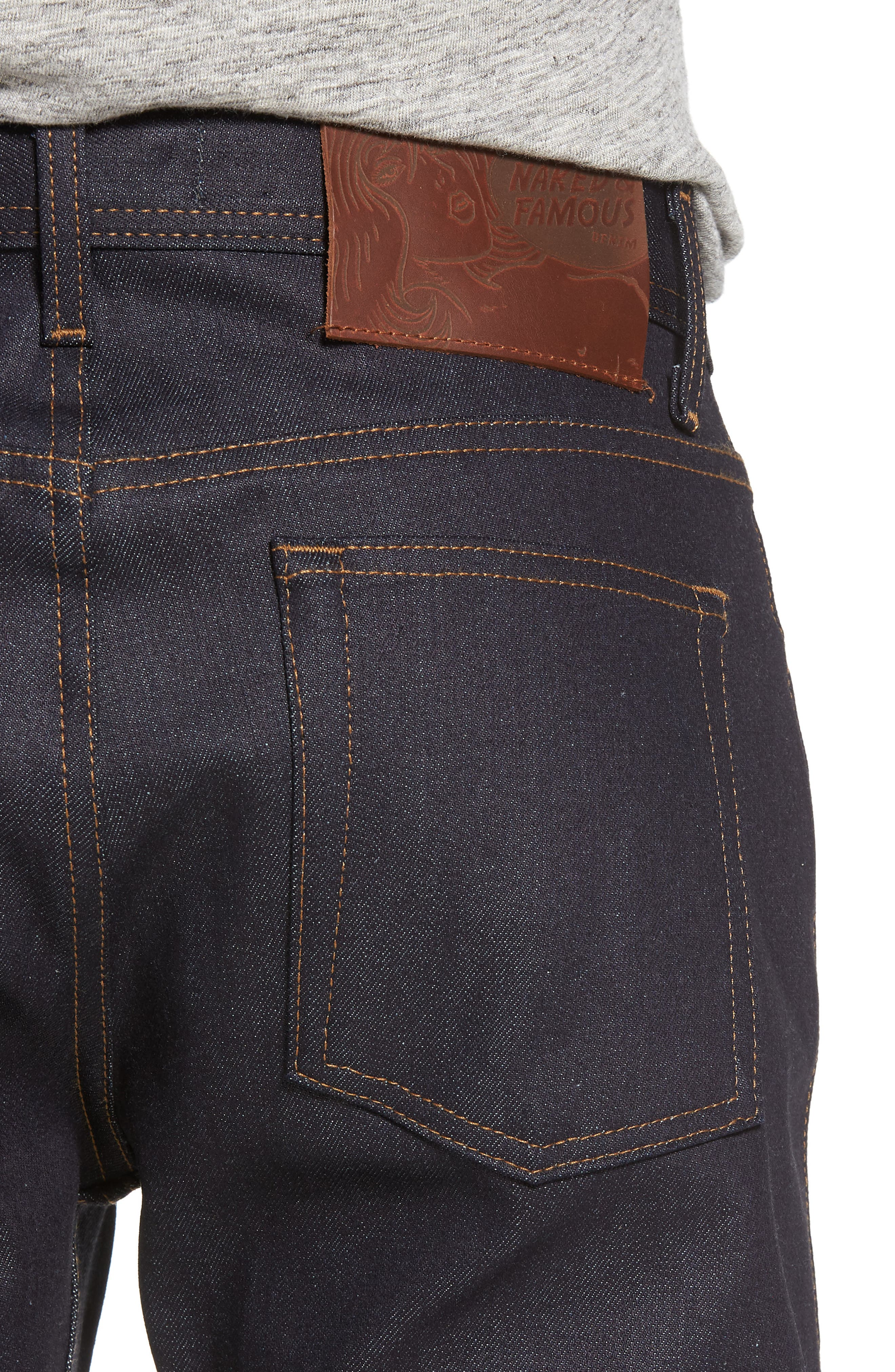 Naked & Famous Weird Guy Slim Fit Jeans,                             Alternate thumbnail 4, color,                             Indigo