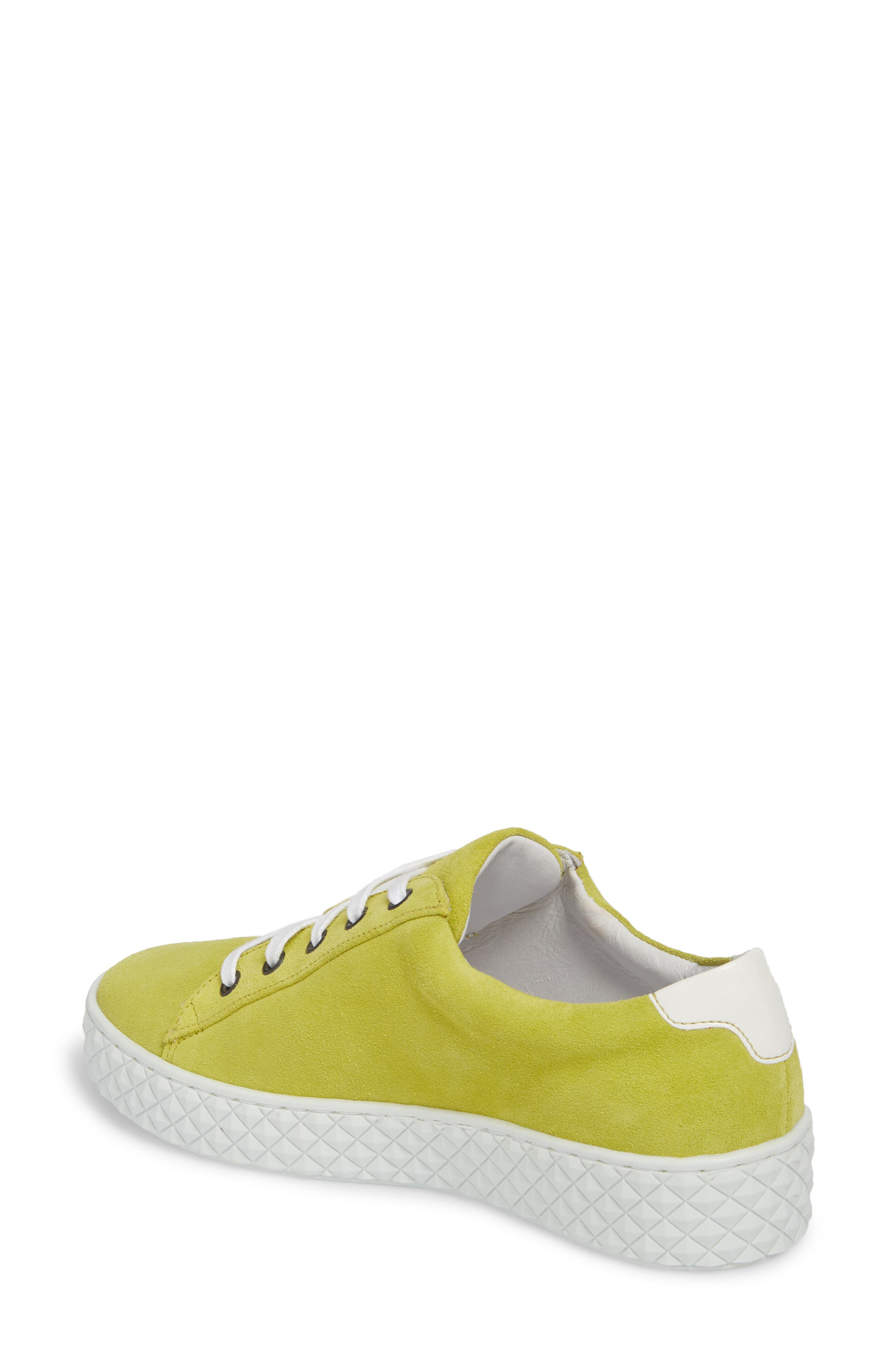Albufeira Sneaker,                             Alternate thumbnail 2, color,                             Lime/ Optic White Suede