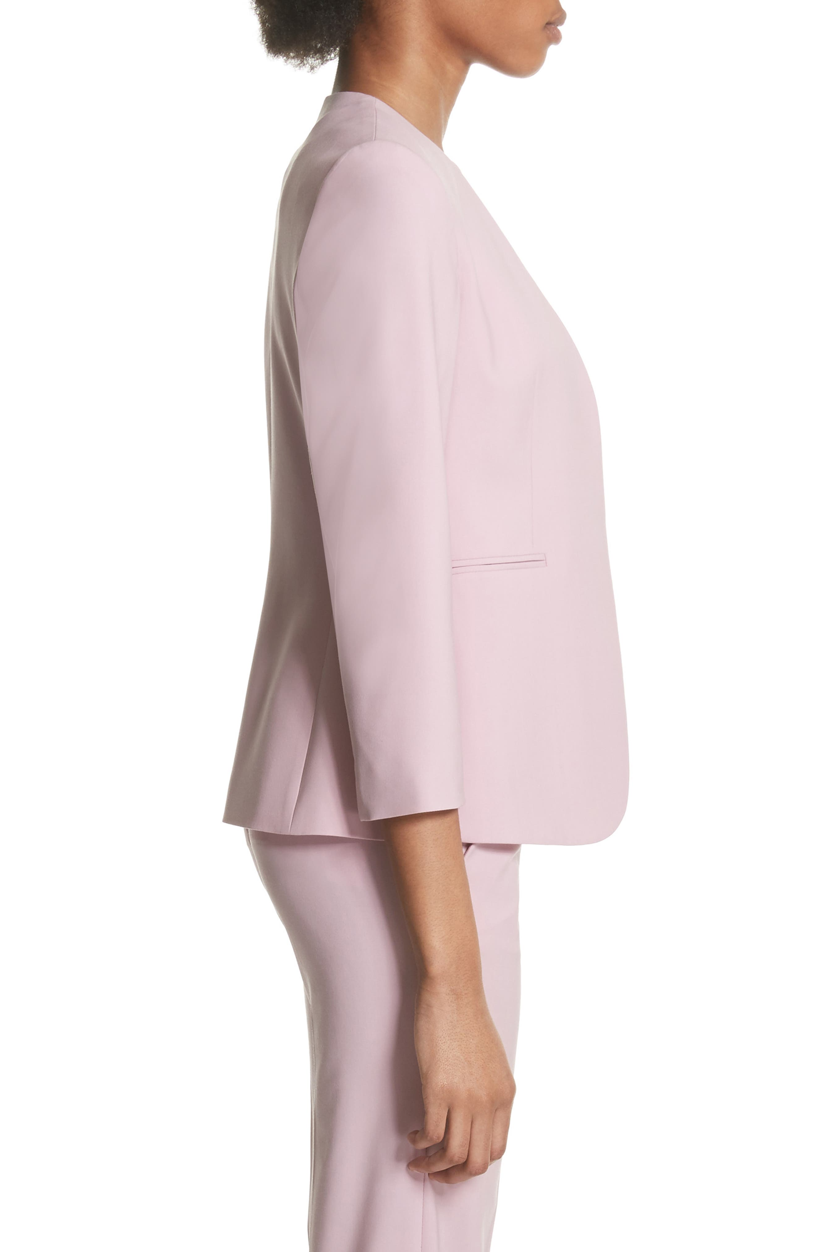 Lindrayia B Good Wool Suit Jacket,                             Alternate thumbnail 3, color,                             Berry Tint