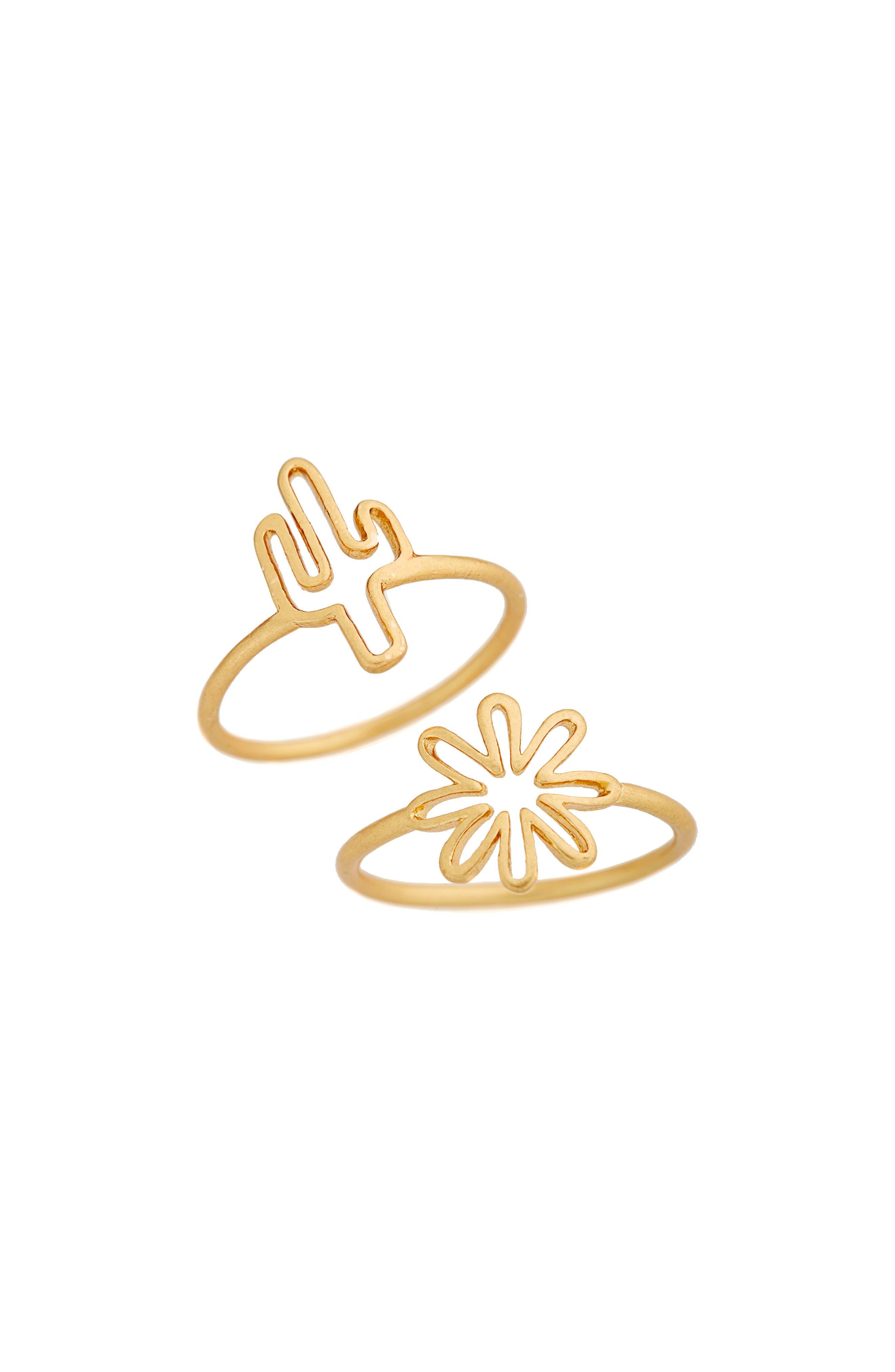 Madewell Cactus Ring Set