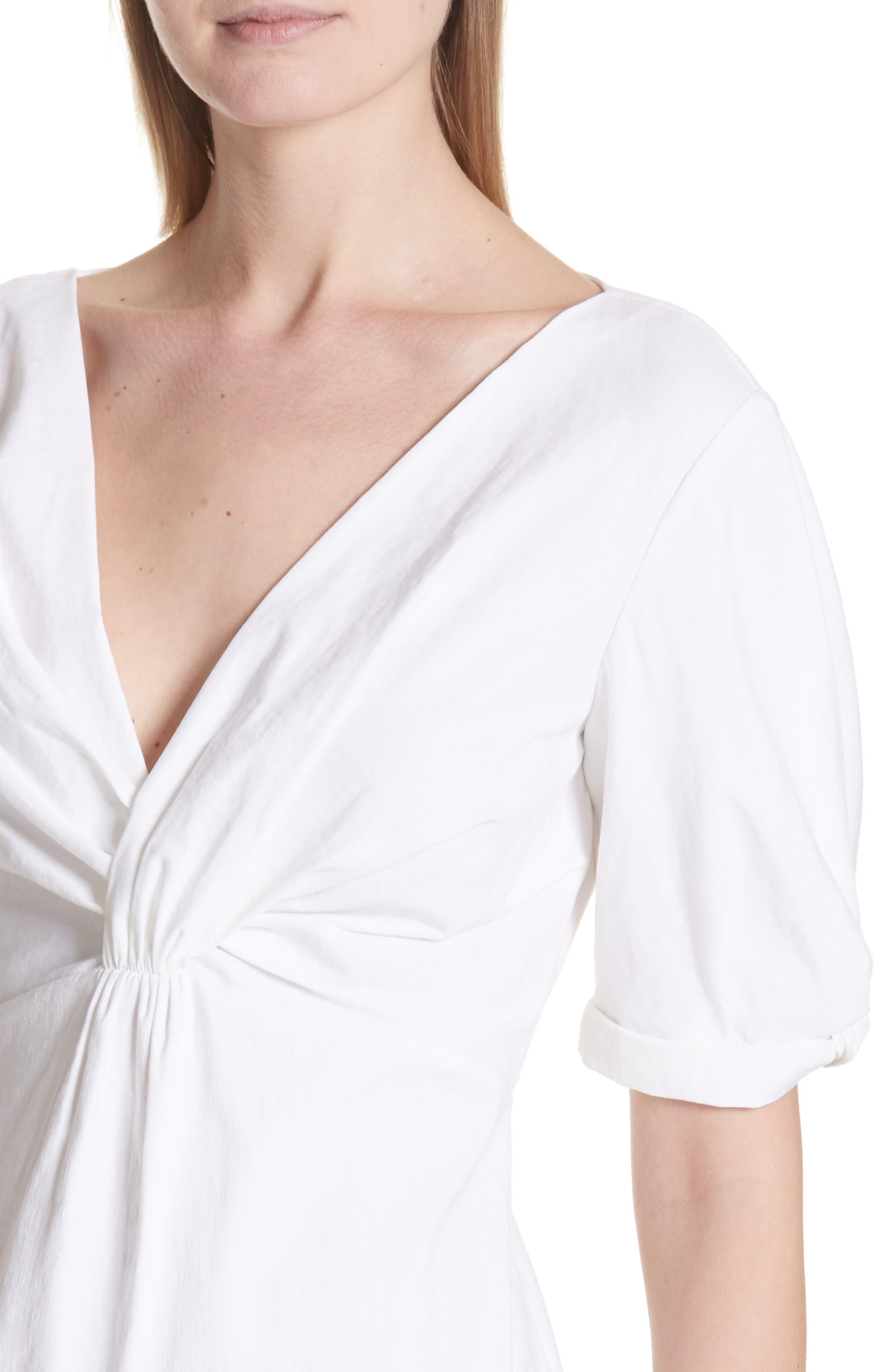 Alternate Image 4  - A.L.C. Mirren Twist Front Linen Blend Dress