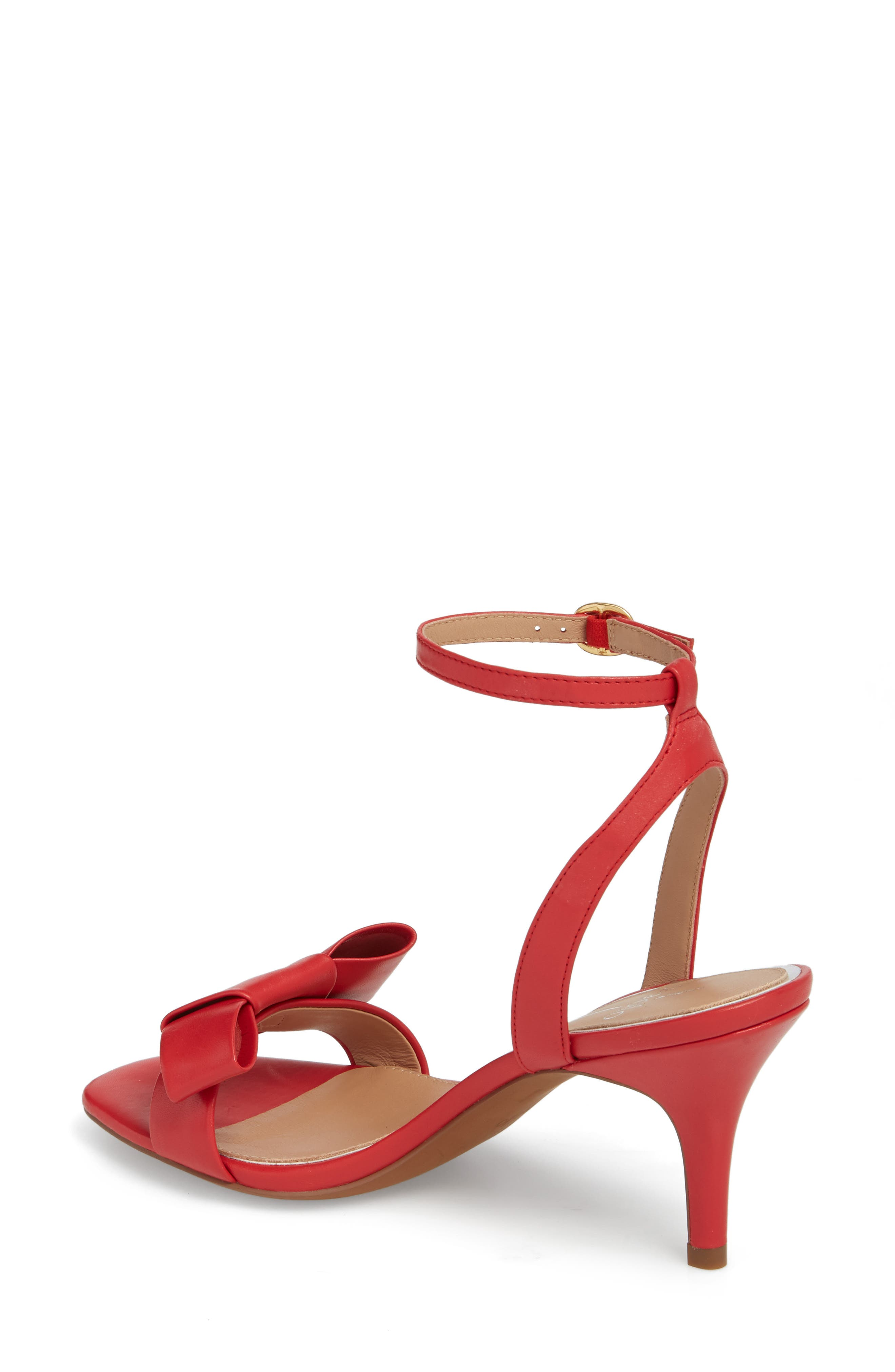 Haven Ankle Strap Sandal,                             Alternate thumbnail 2, color,                             Red Leather
