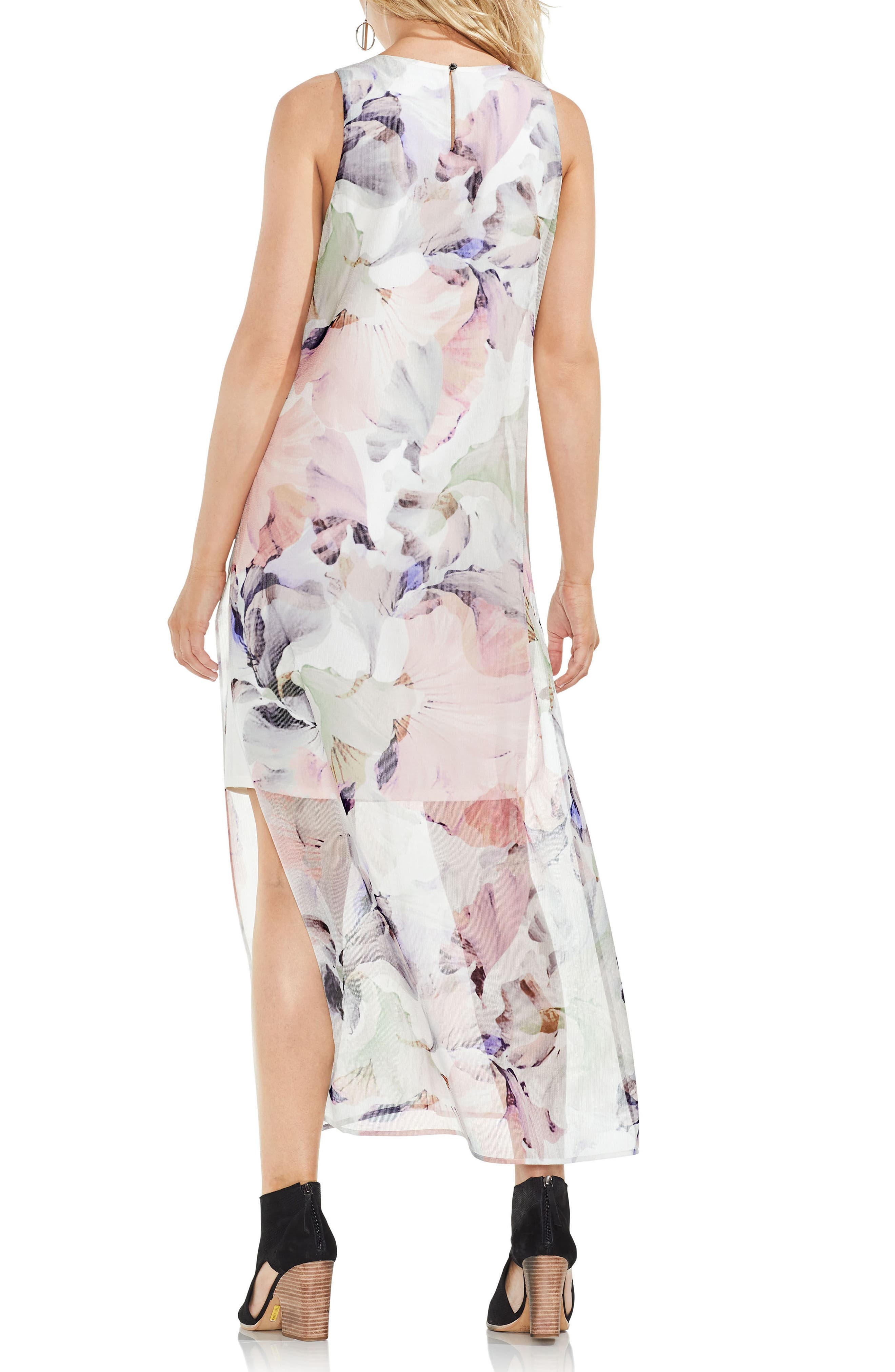 Diffused Blooms Underlayer Sleeveless Maxi Dress,                             Alternate thumbnail 2, color,                             New Ivory