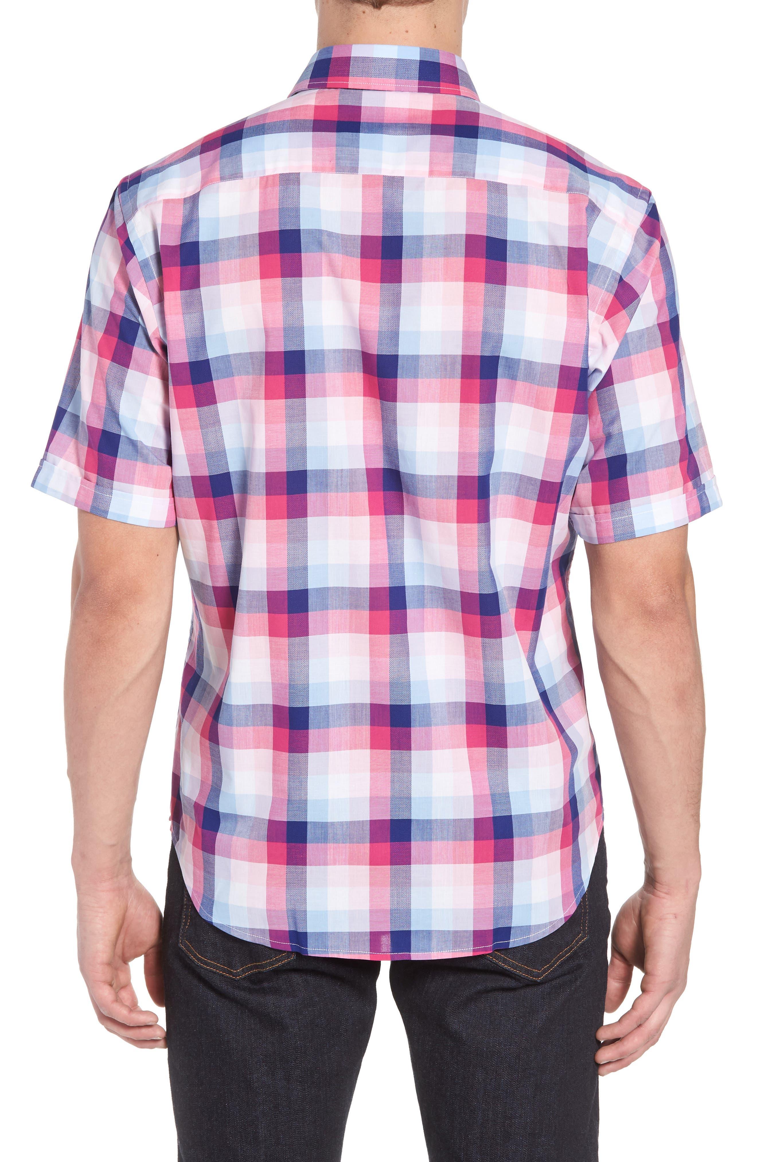Classic Fit Check Sport Shirt,                             Alternate thumbnail 2, color,                             Gum Drop