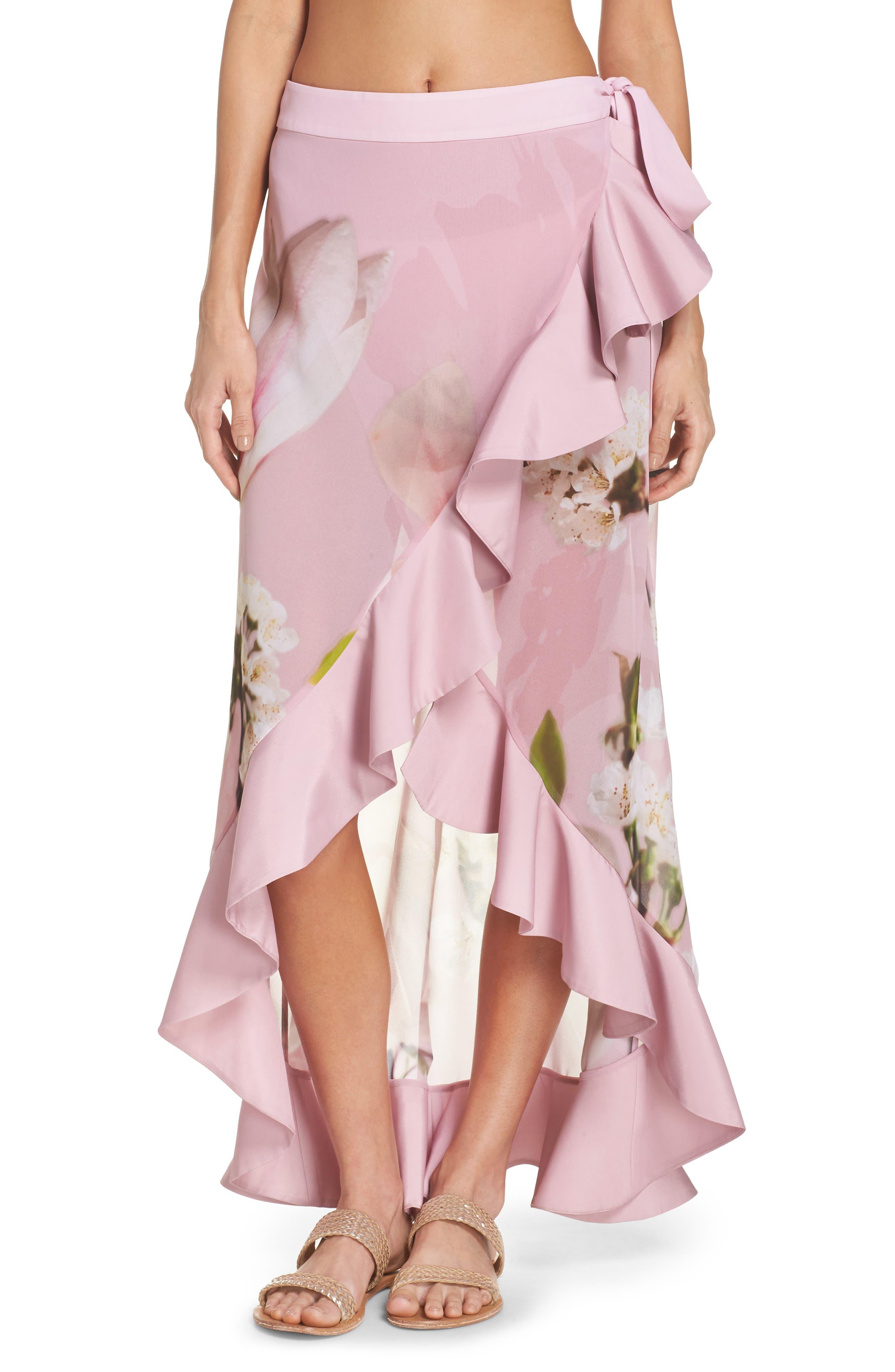 Harmony Cover-Up Skirt,                             Main thumbnail 1, color,                             Dusky Pink
