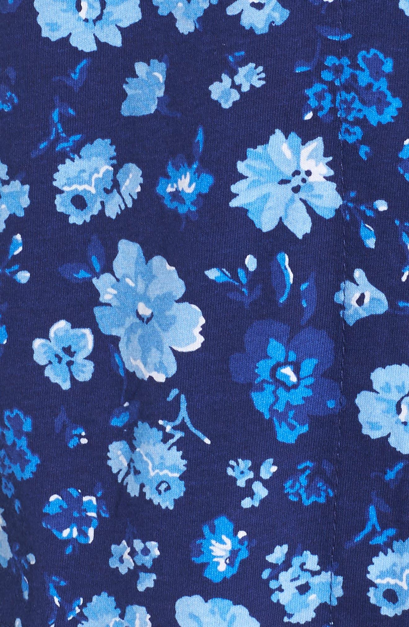 Cropped Pajamas,                             Alternate thumbnail 6, color,                             Blue Floral