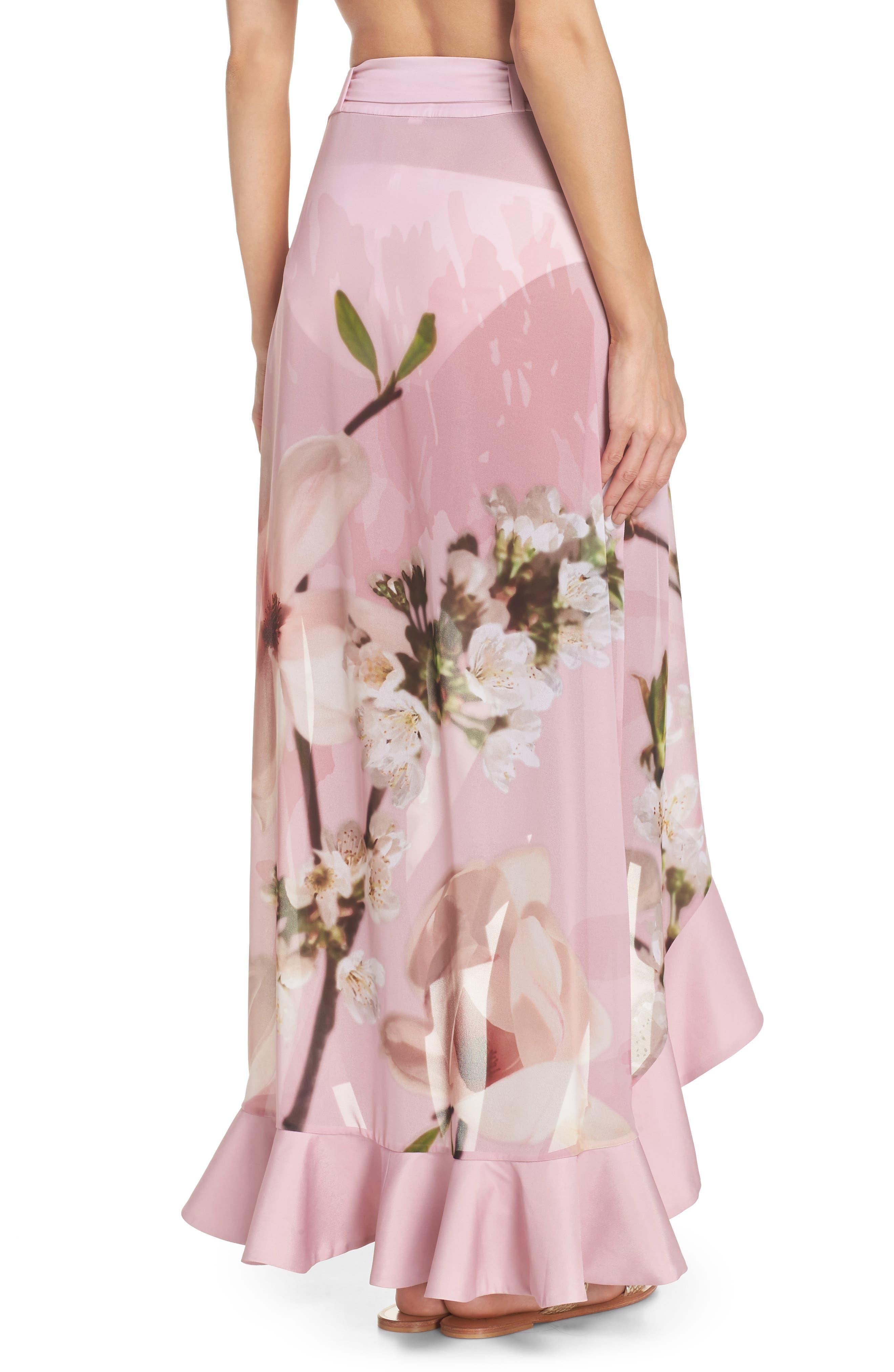 Harmony Cover-Up Skirt,                             Alternate thumbnail 2, color,                             Dusky Pink