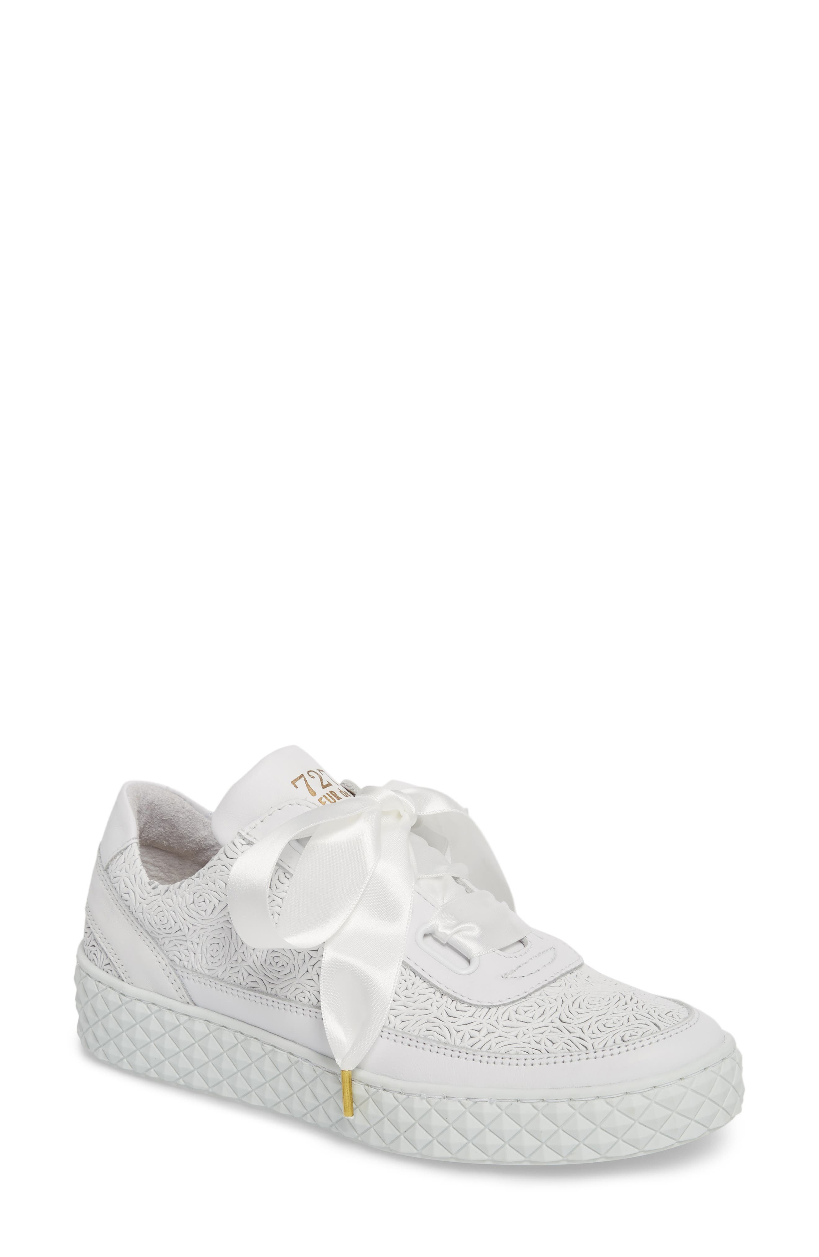 Montreal Sneaker,                         Main,                         color, White Leather