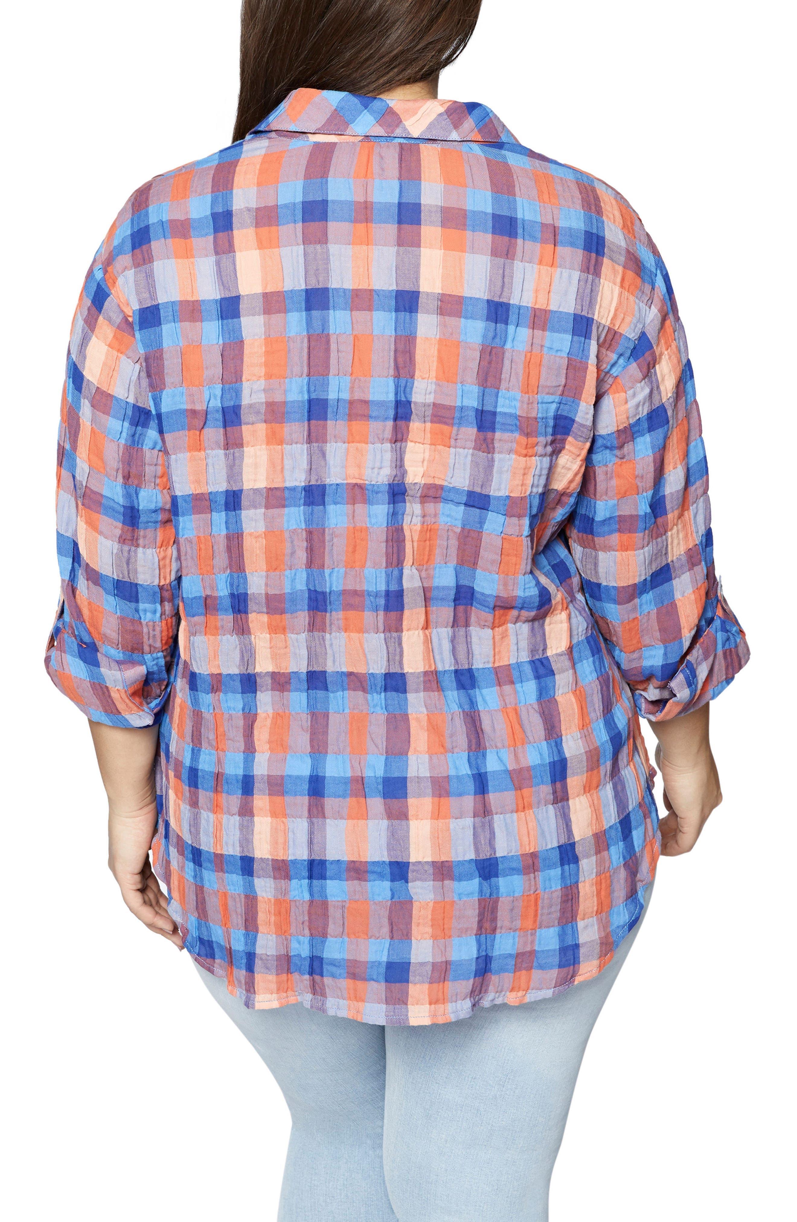 The Steady Boyfriend Plaid Shirt,                             Alternate thumbnail 2, color,                             Spring Awakening
