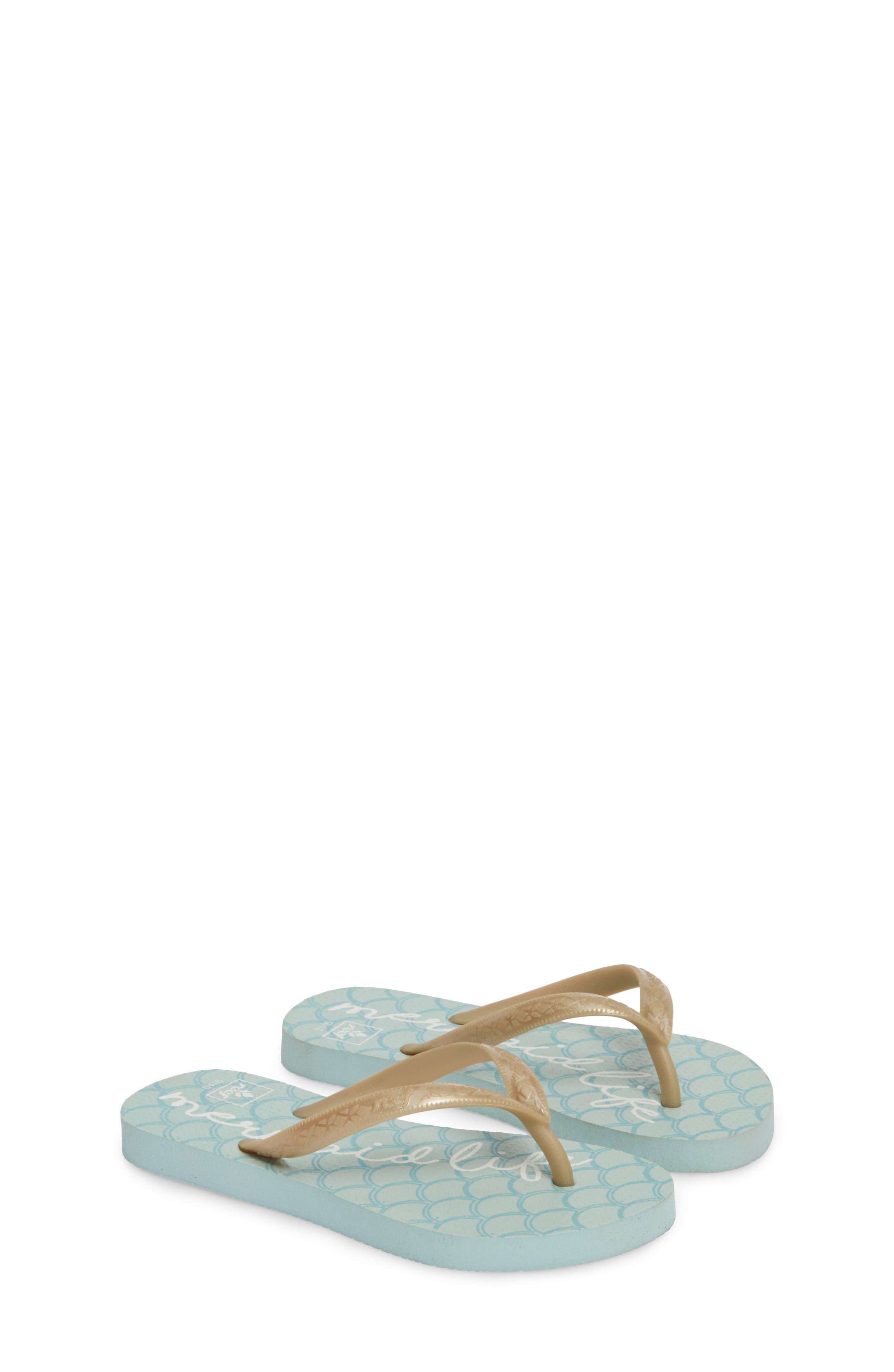 Little Reef Escape Flip Flops,                             Alternate thumbnail 2, color,                             Blue