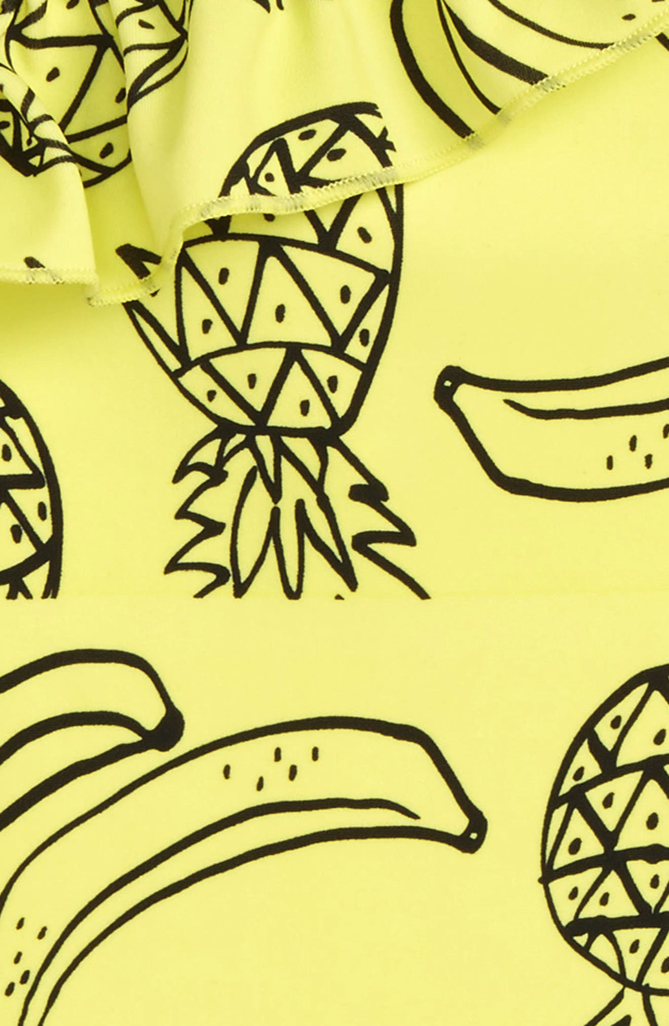 Pineapple Ruffle One-Piece Swimsuit,                             Alternate thumbnail 2, color,                             Yellow Light Tropical Fruits