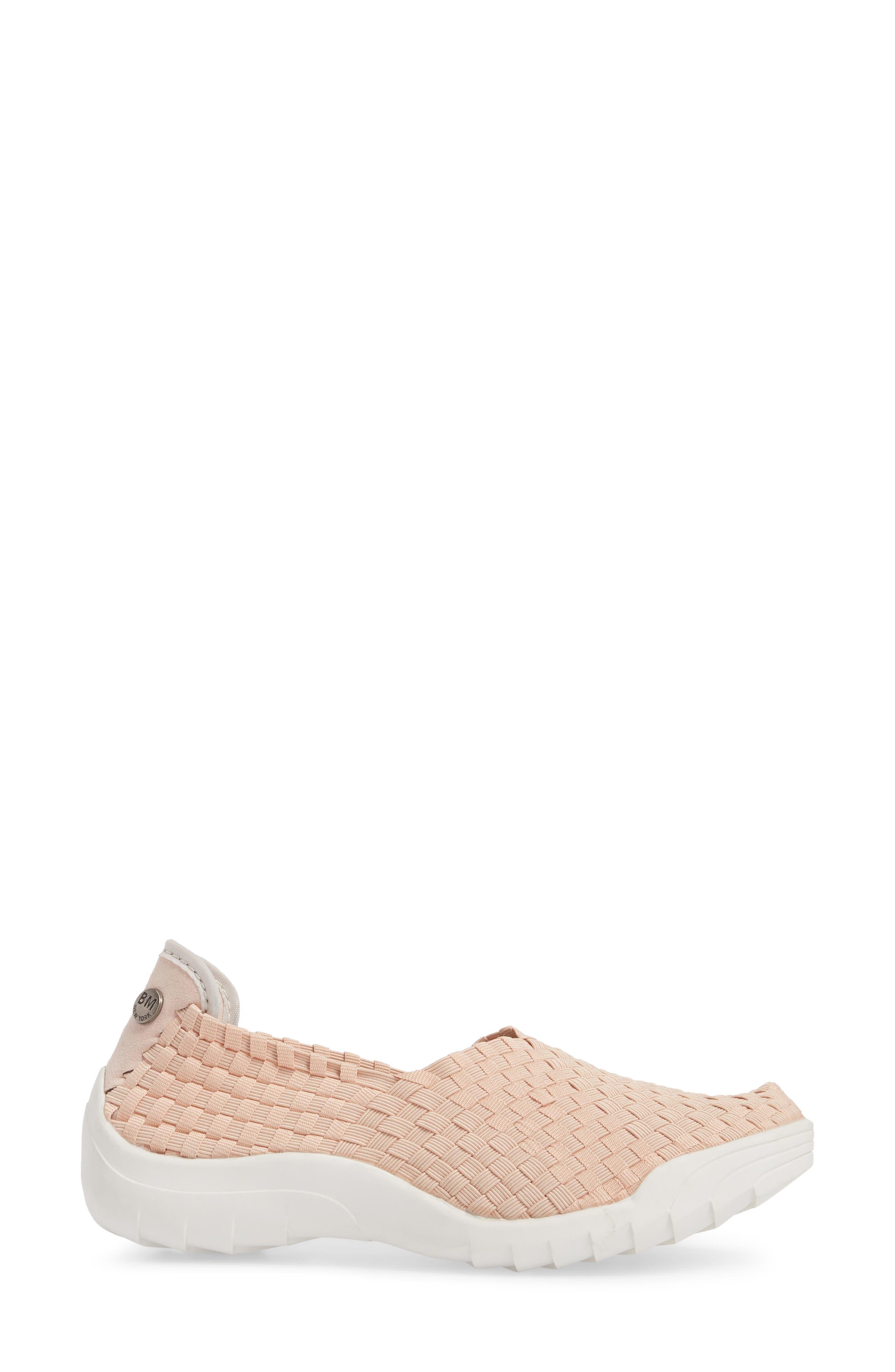 Rigged Fly Slip-On Sneaker,                             Alternate thumbnail 3, color,                             Blush