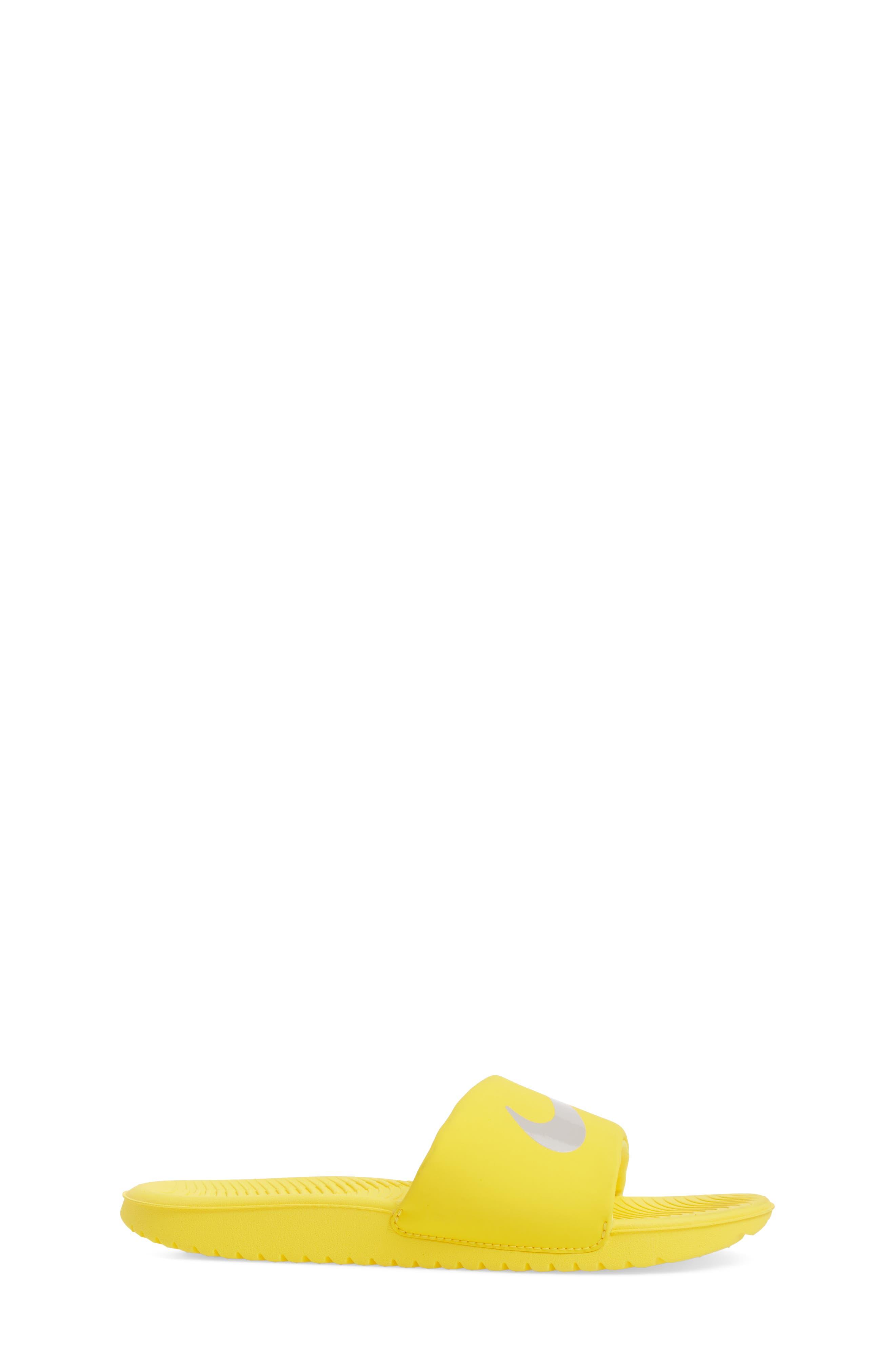 'Kawa' Slide Sandal,                             Alternate thumbnail 3, color,                             Yellow/ Atmosphere Grey