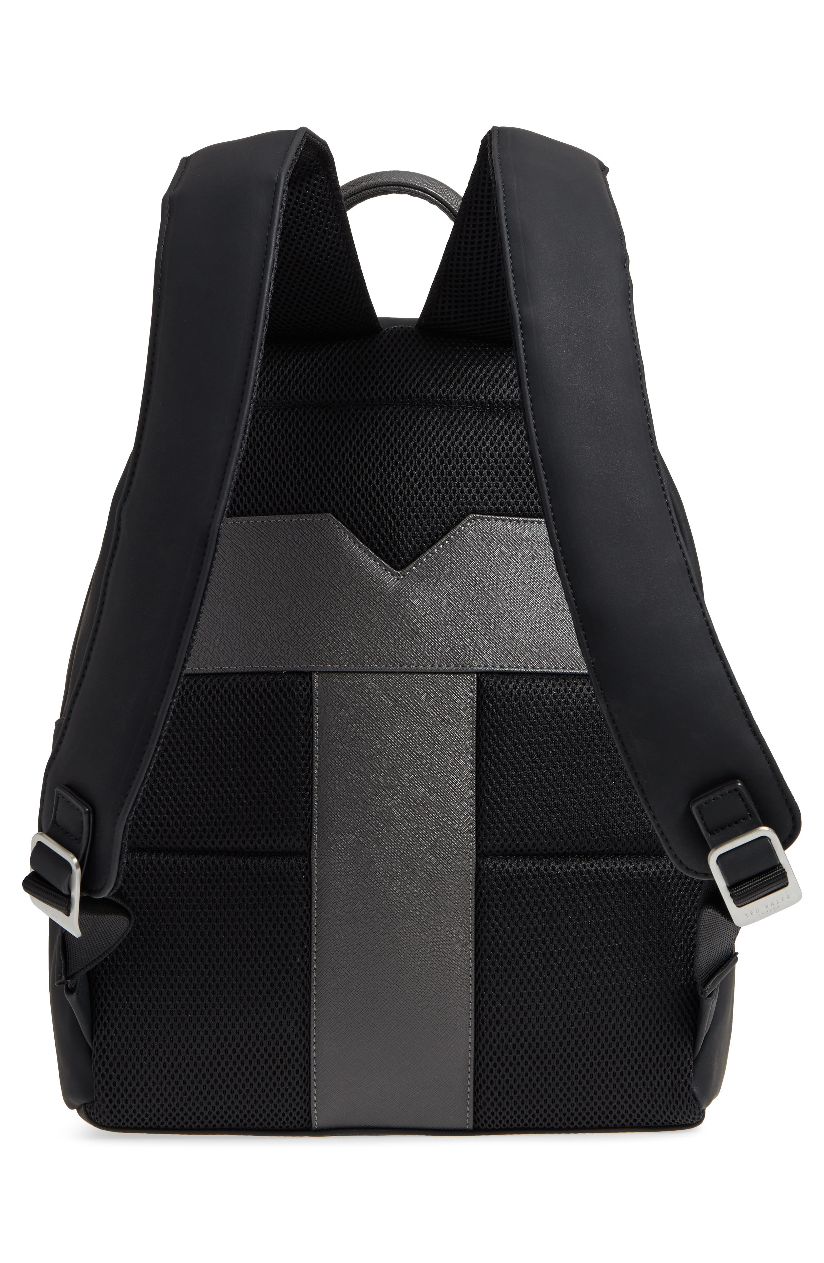 Passed Faux Leather Backpack,                             Alternate thumbnail 3, color,                             Black