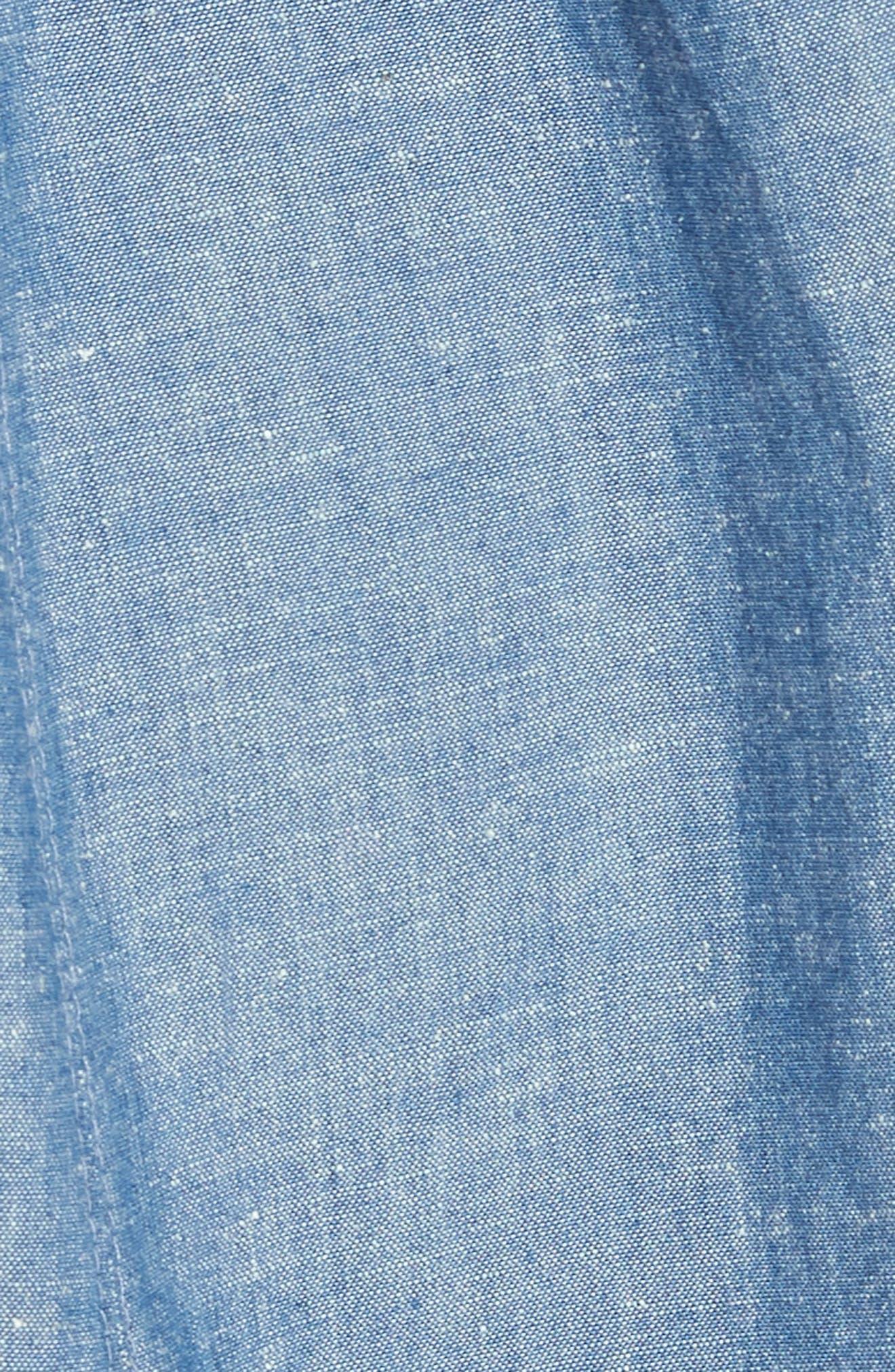 Carolina Chambray Minidress,                             Alternate thumbnail 5, color,                             Blue