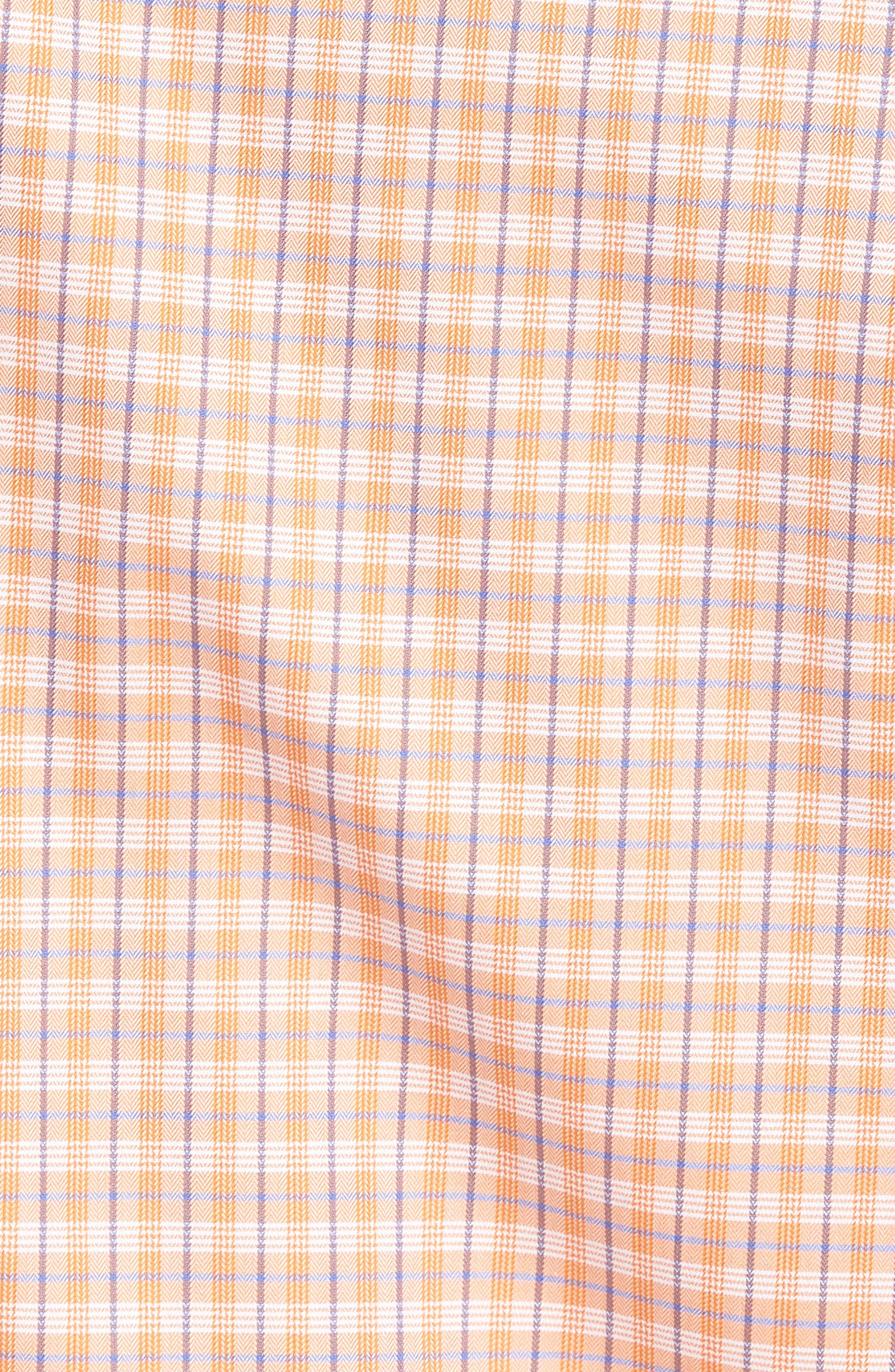 Regular Fit Plaid Sport Shirt,                             Alternate thumbnail 5, color,                             Melon