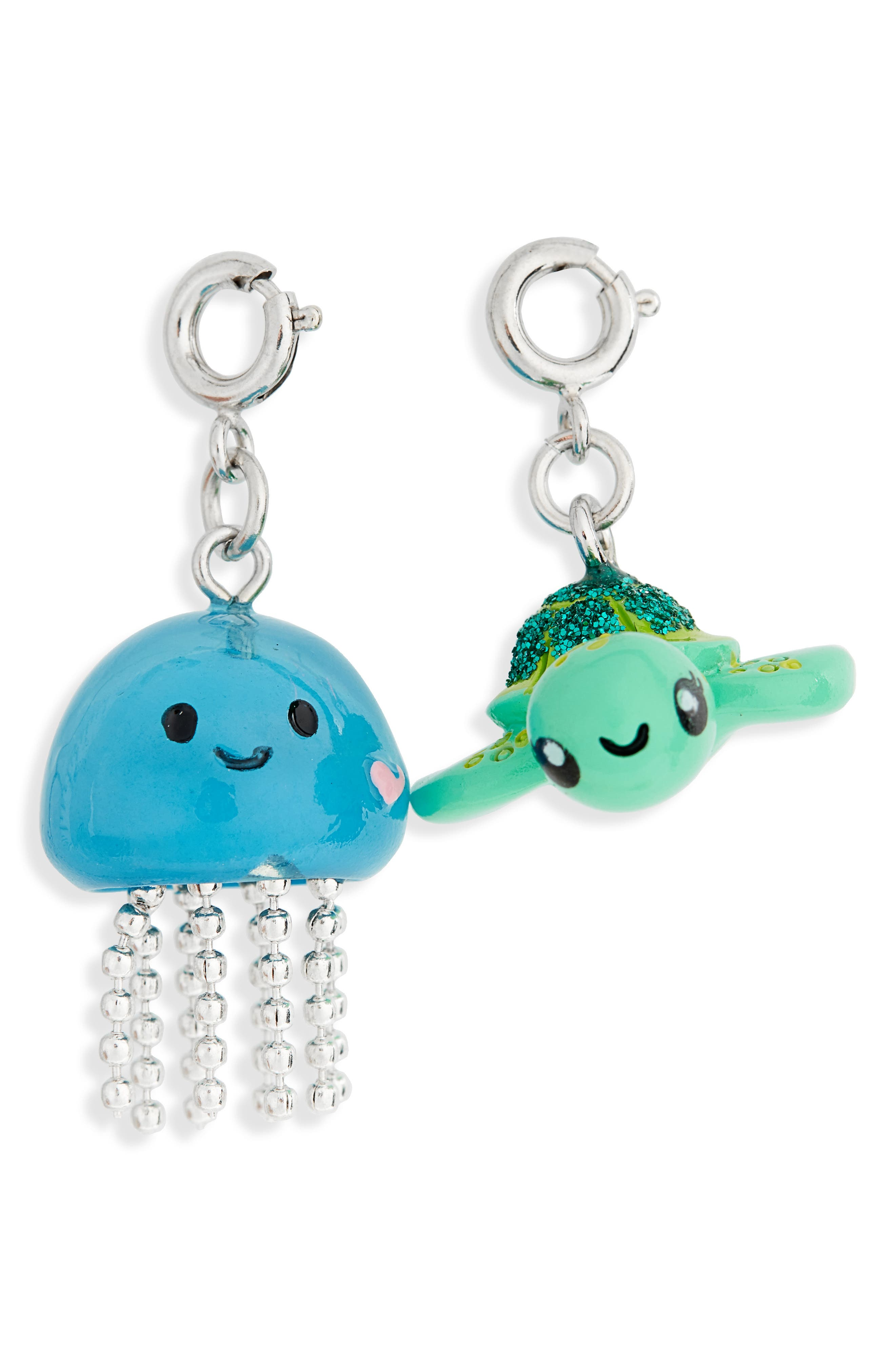 CHARM IT!<sup>®</sup> 2-Pack Glitter Sea Turtle & Jellyfish Charms,                             Alternate thumbnail 2, color,                             Multi