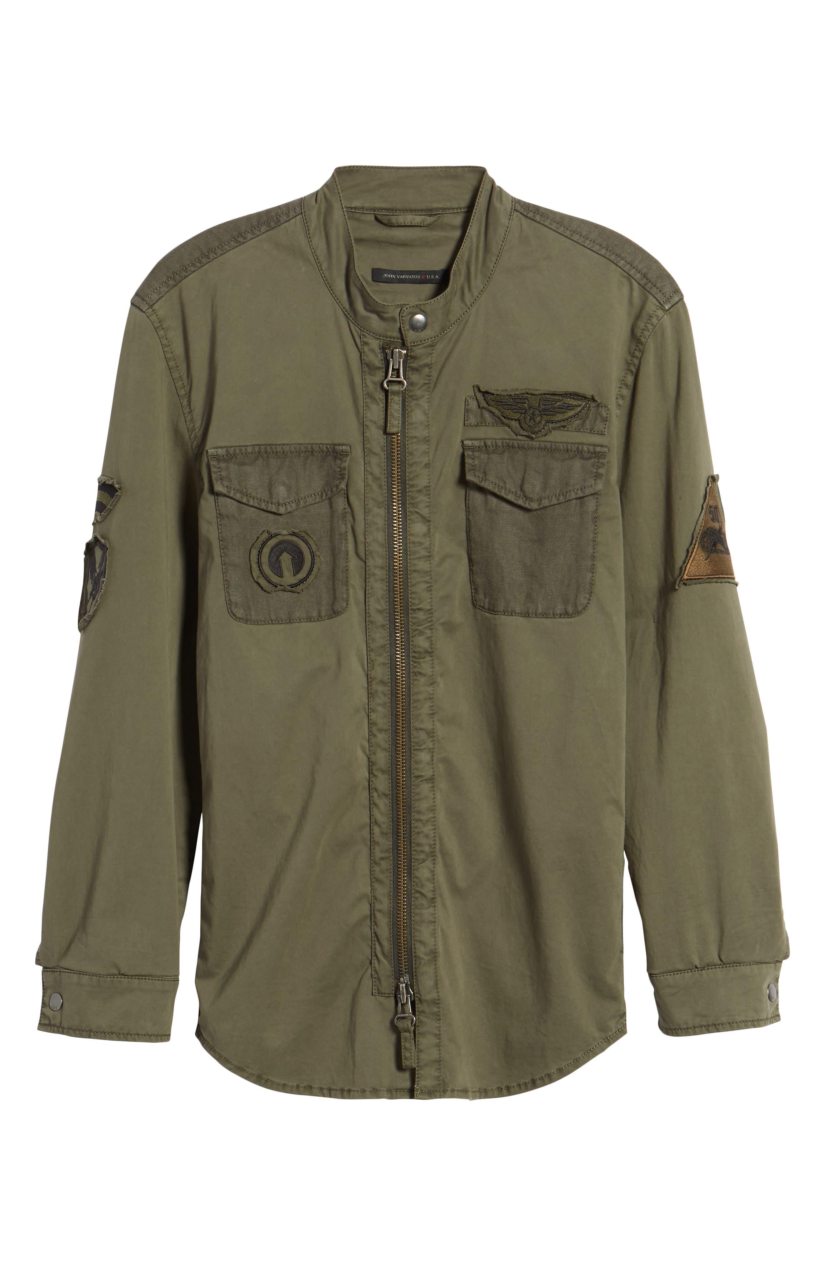 Shirt Jacket,                             Alternate thumbnail 6, color,                             Olive