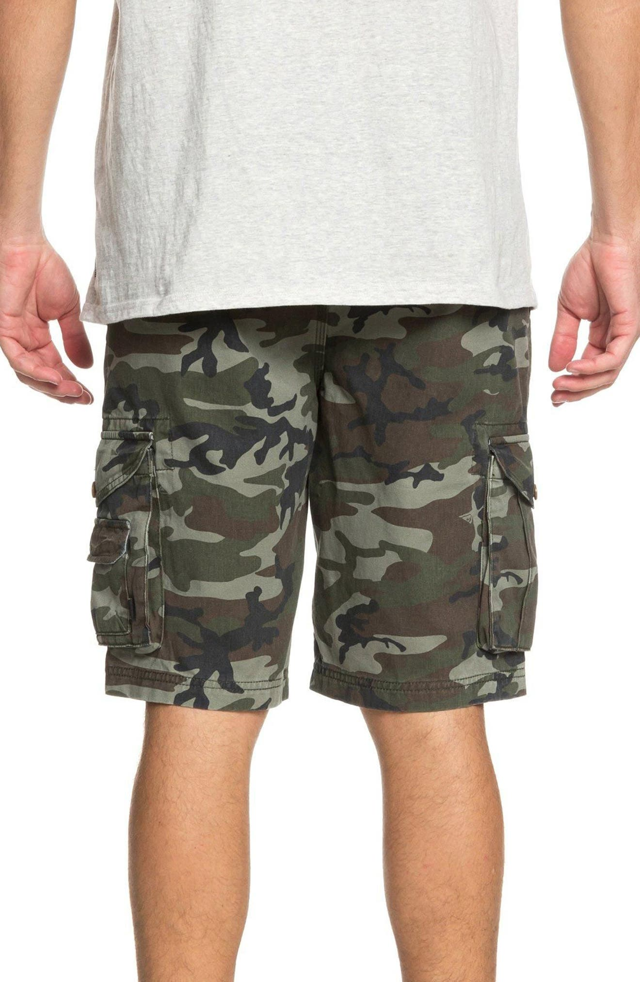 Crucial Battle Cargo Shorts,                             Alternate thumbnail 2, color,                             Camo Print