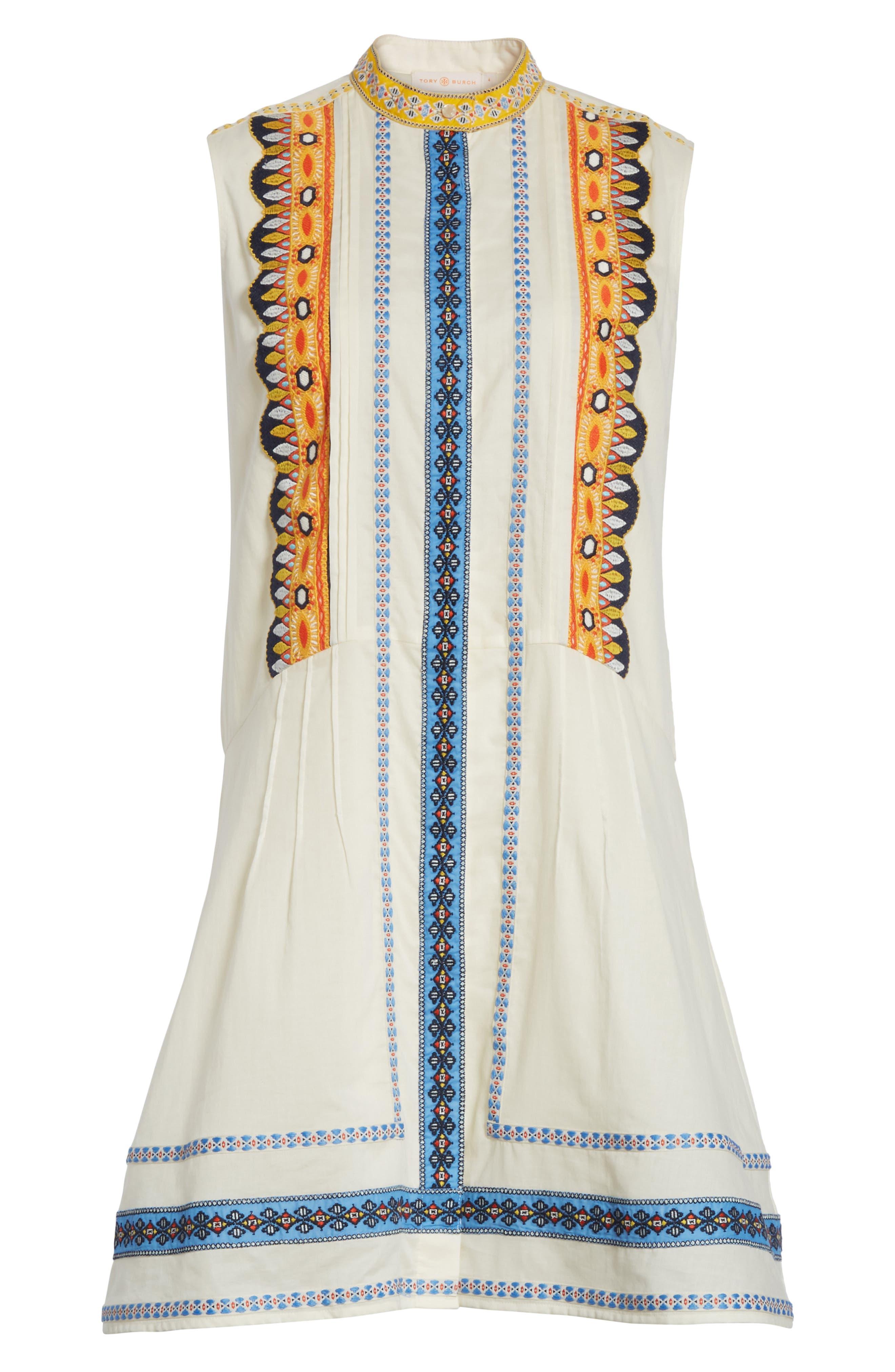 Adriana Sleeveless Shirtdress,                             Alternate thumbnail 6, color,                             New Ivory
