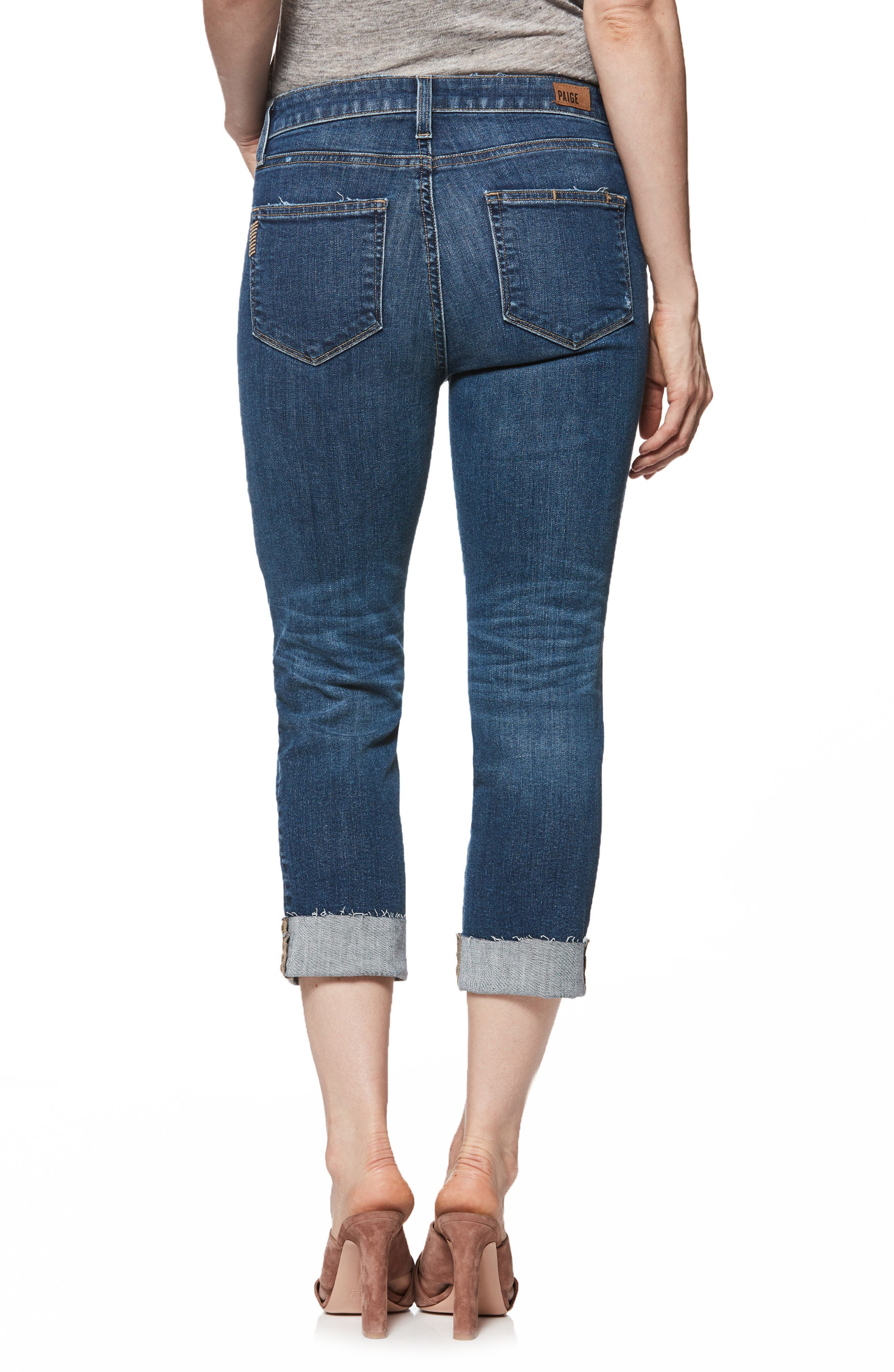 Transcend Vintage - Hoxton Cuff Ankle Skinny Jeans,                             Alternate thumbnail 2, color,                             Pico