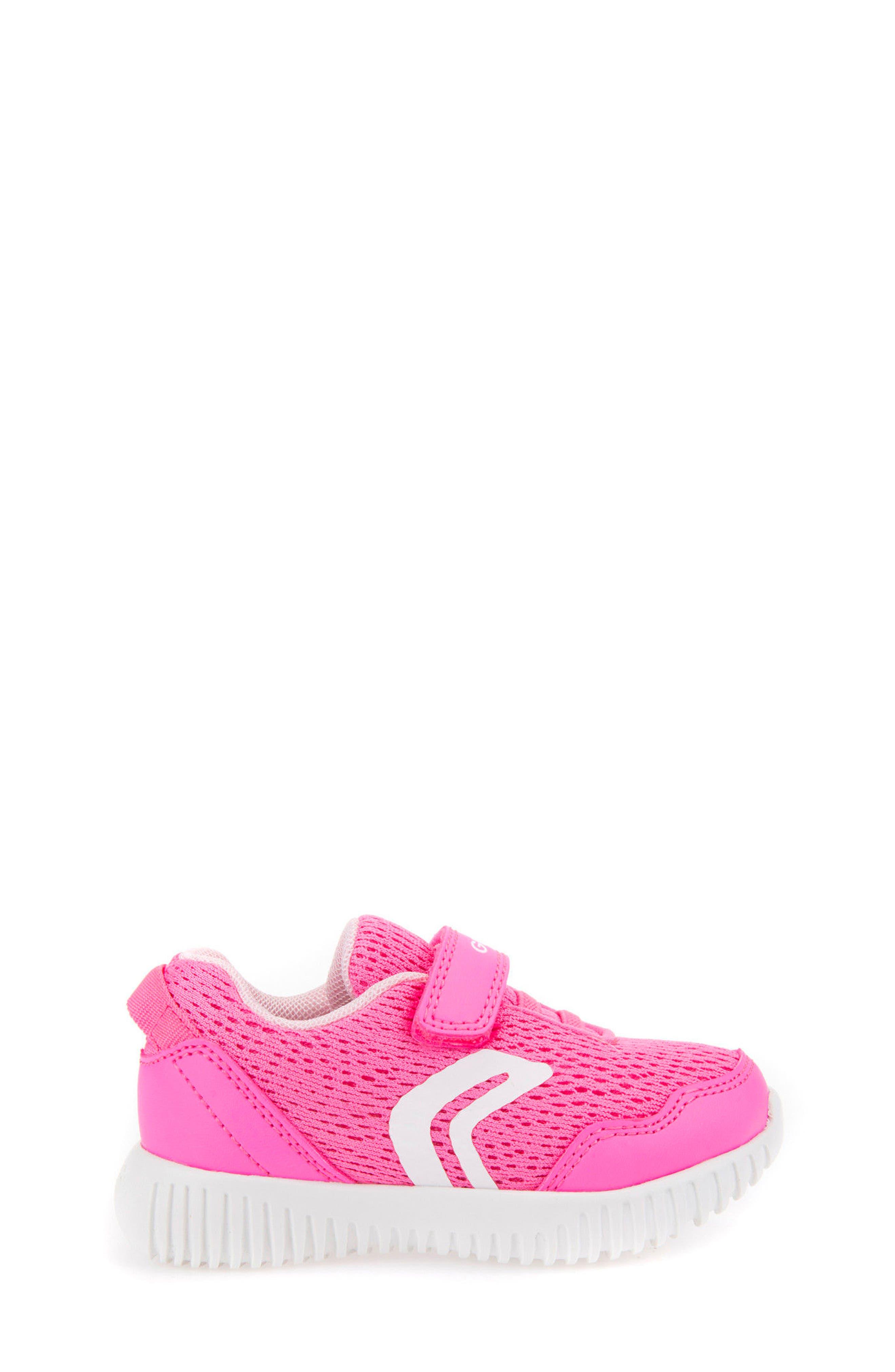 Waviness Sneaker,                             Alternate thumbnail 3, color,                             Fluorescent Fuchsia