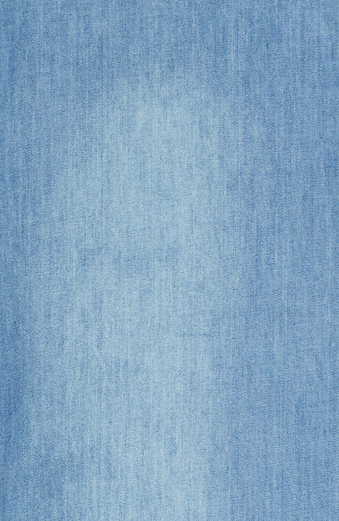 Lulu Lace-Up Chambray Dress,                             Alternate thumbnail 3, color,                             Light Blue