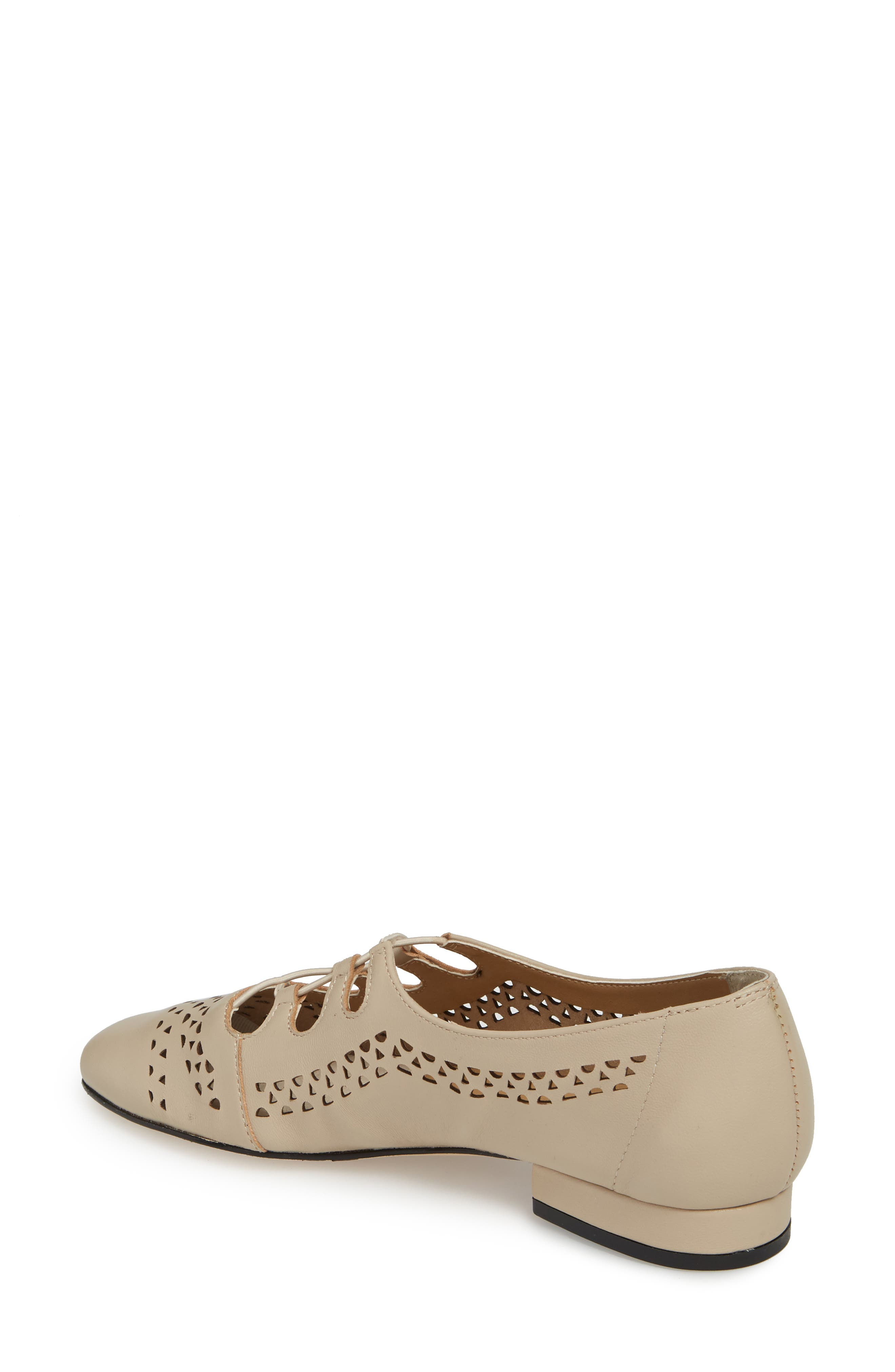 Fabra Perforated Oxford Slip-On,                             Alternate thumbnail 2, color,                             Ecru Leather