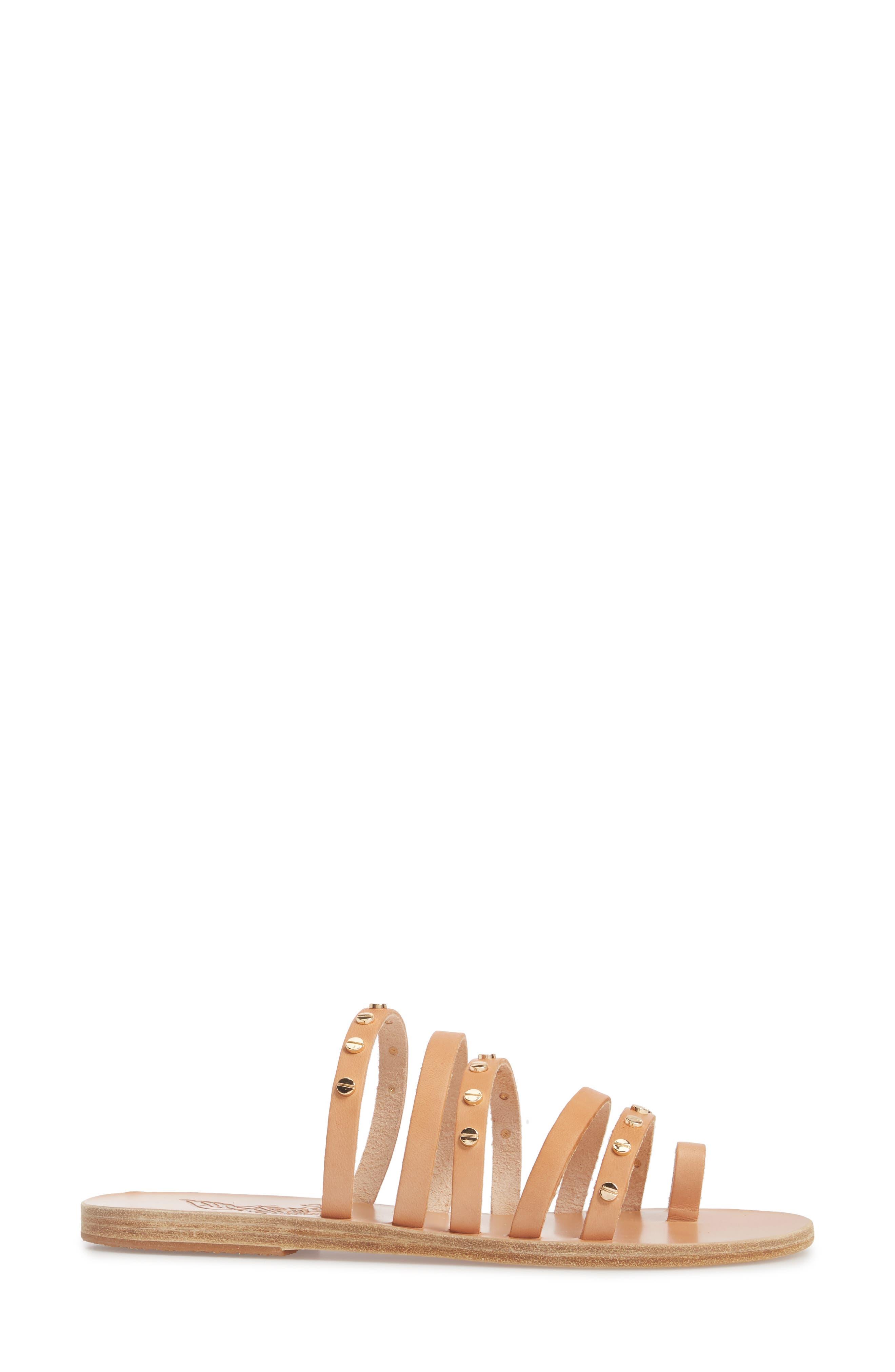 Niki Nails Sandal,                             Alternate thumbnail 3, color,                             Natural