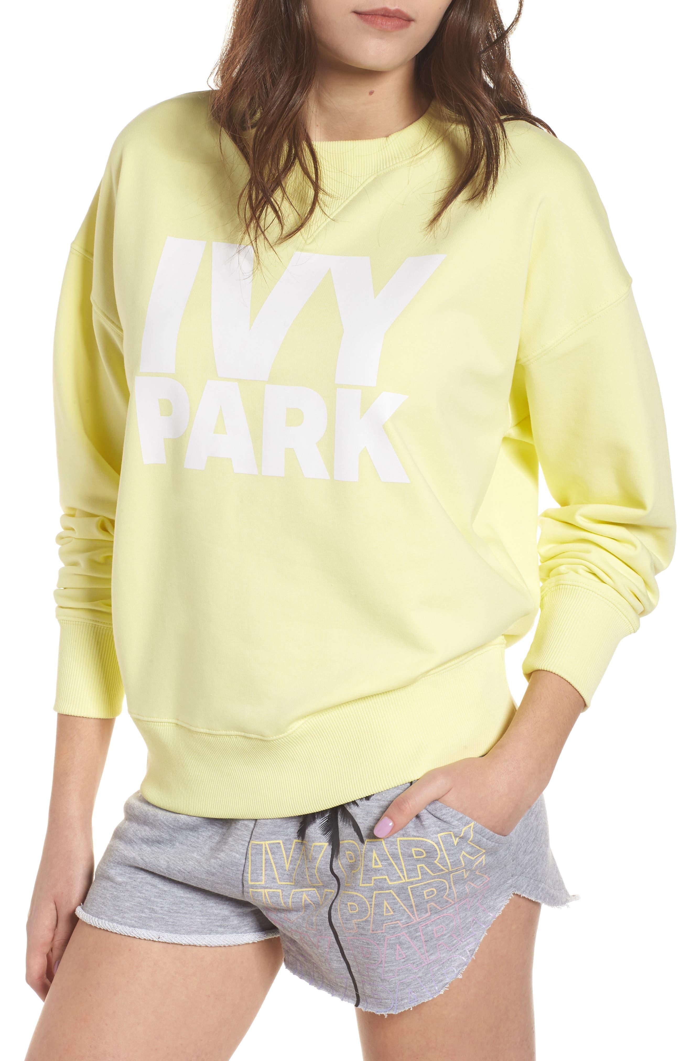 Logo Sweatshirt,                         Main,                         color, Yellow Pear