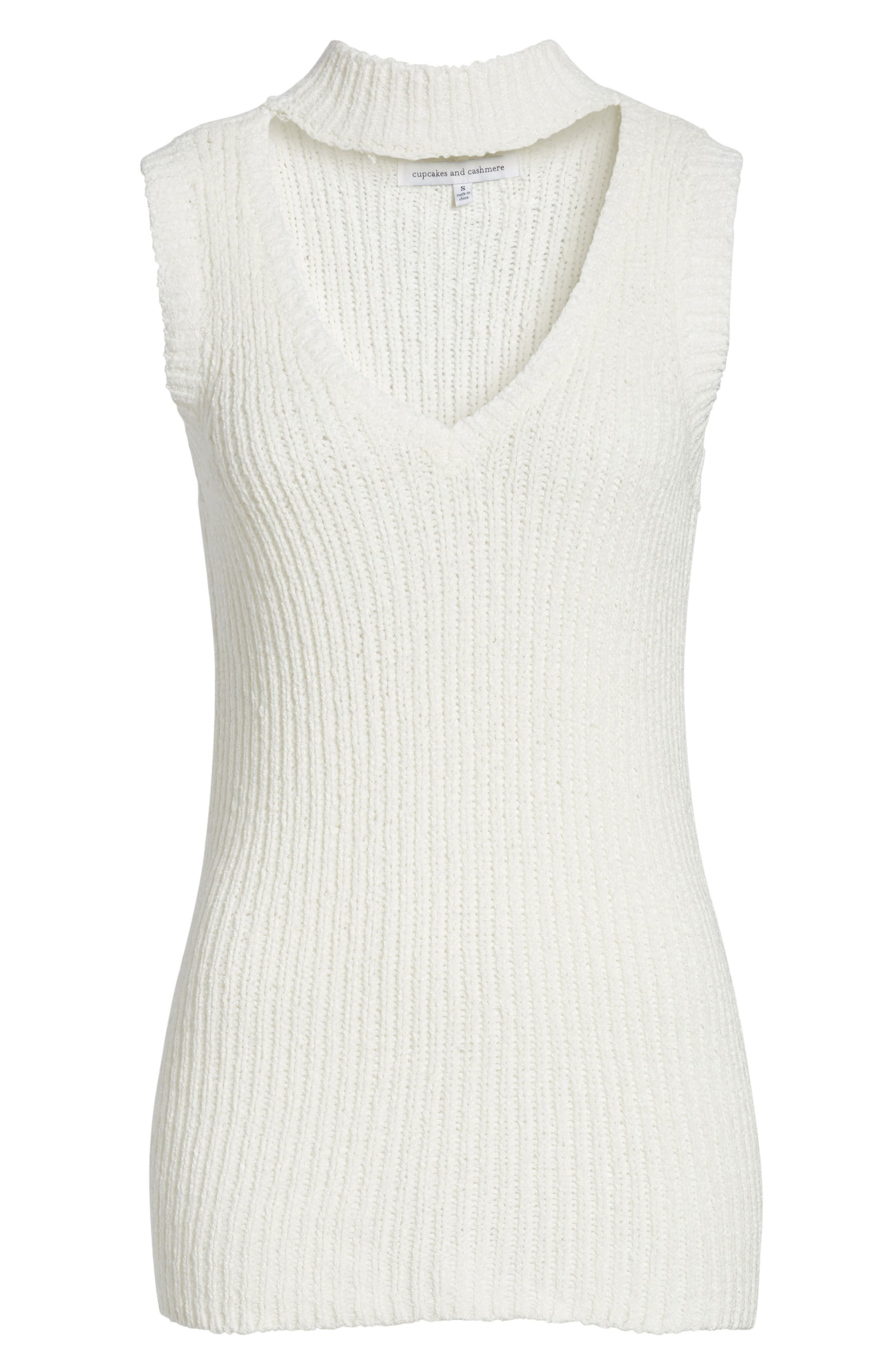 Camdon Sleeveless Sweater,                             Alternate thumbnail 7, color,                             Ivory