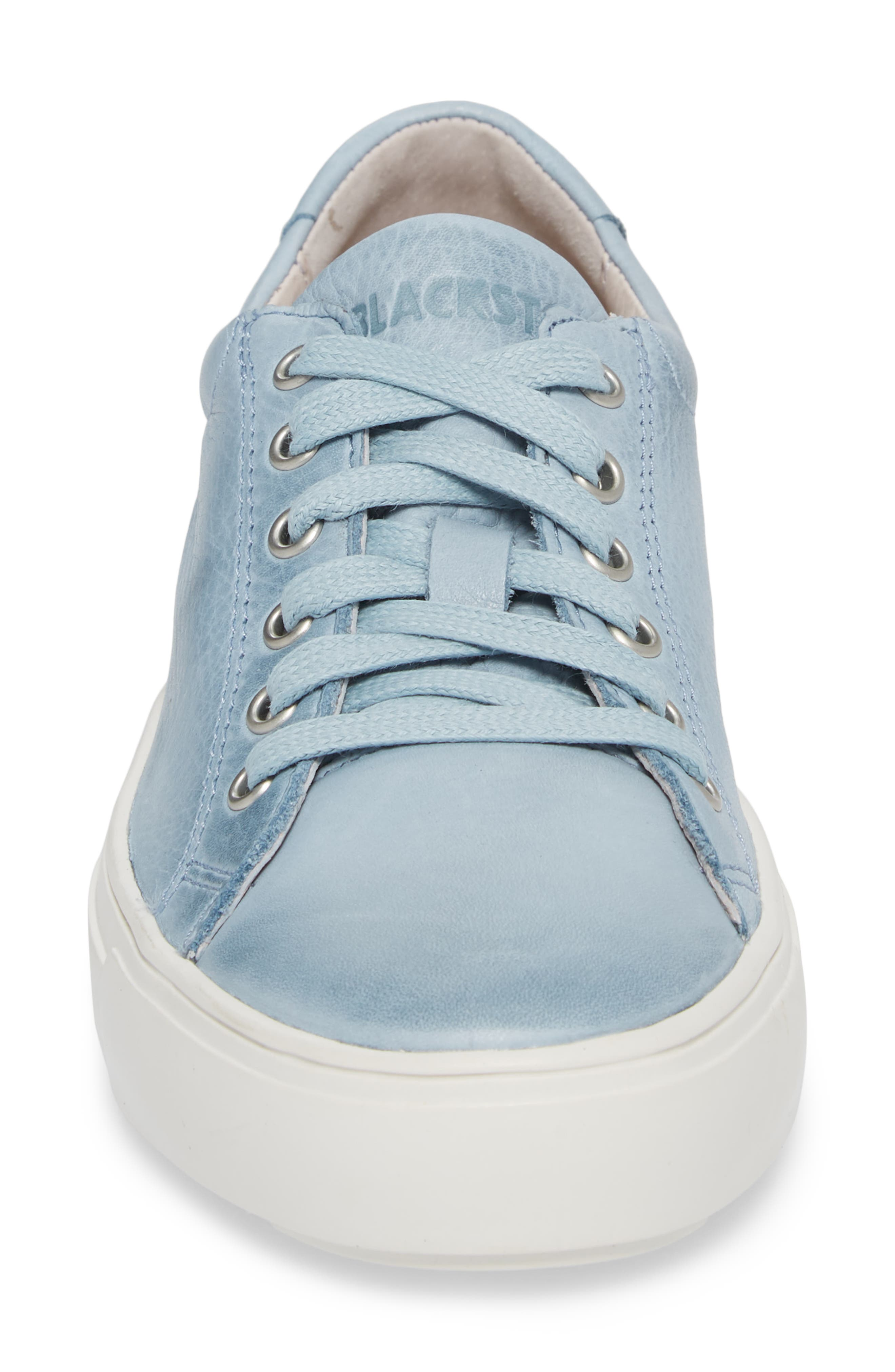 PL71 Low Top Sneaker,                             Alternate thumbnail 4, color,                             Sky Blue Leather