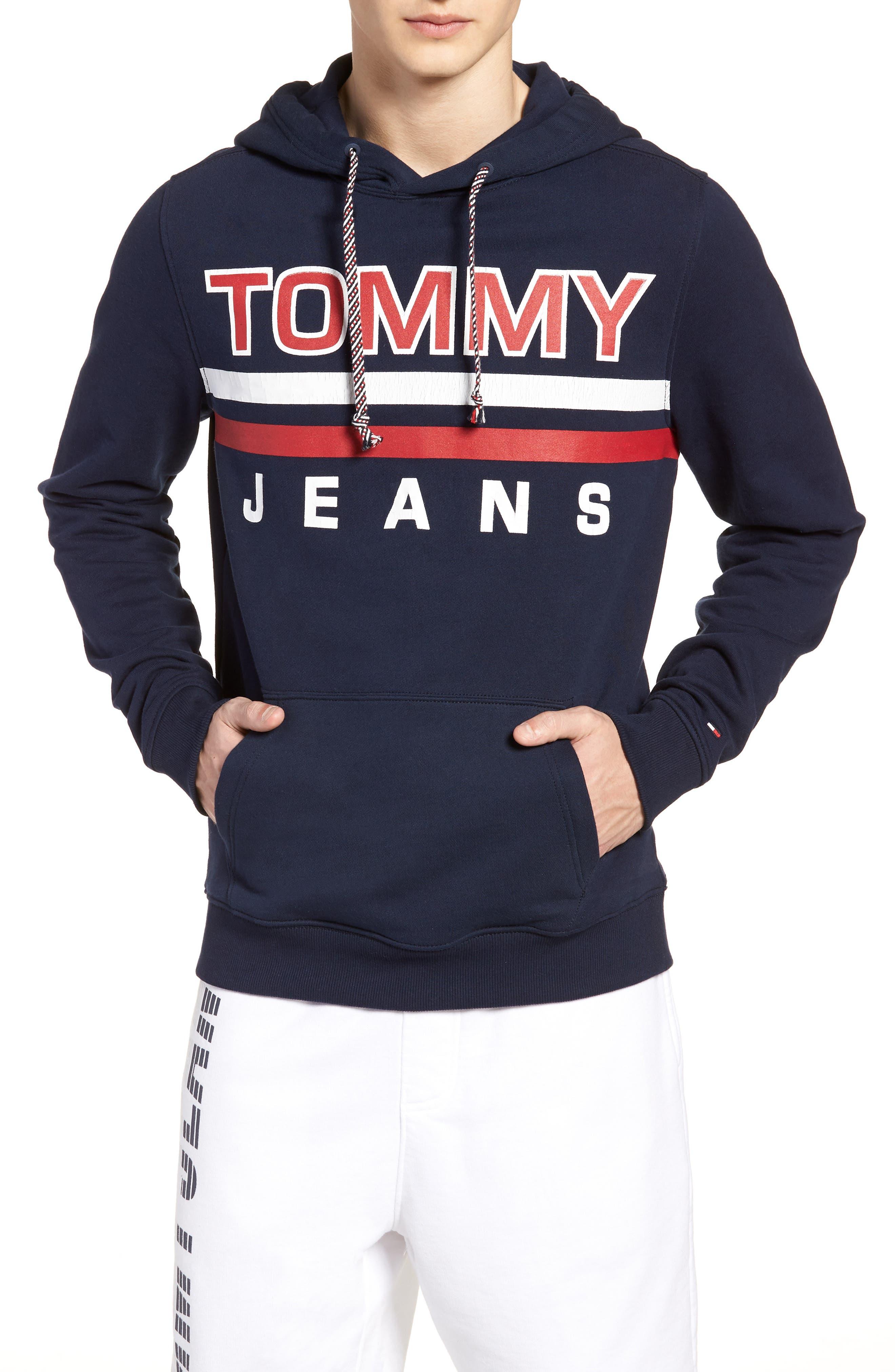 Alternate Image 1 Selected - TOMMY JEANS Essential Graphic Hoodie Sweatshirt