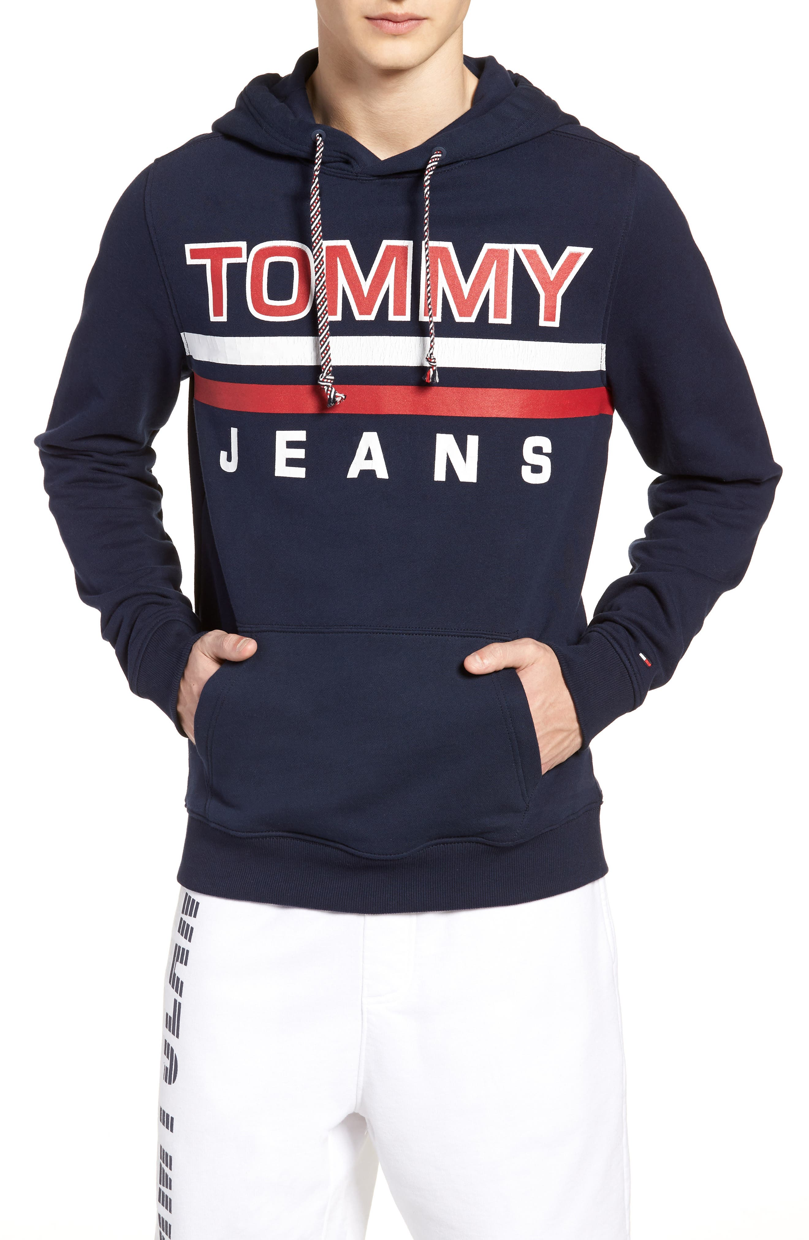 Main Image - TOMMY JEANS Essential Graphic Hoodie Sweatshirt