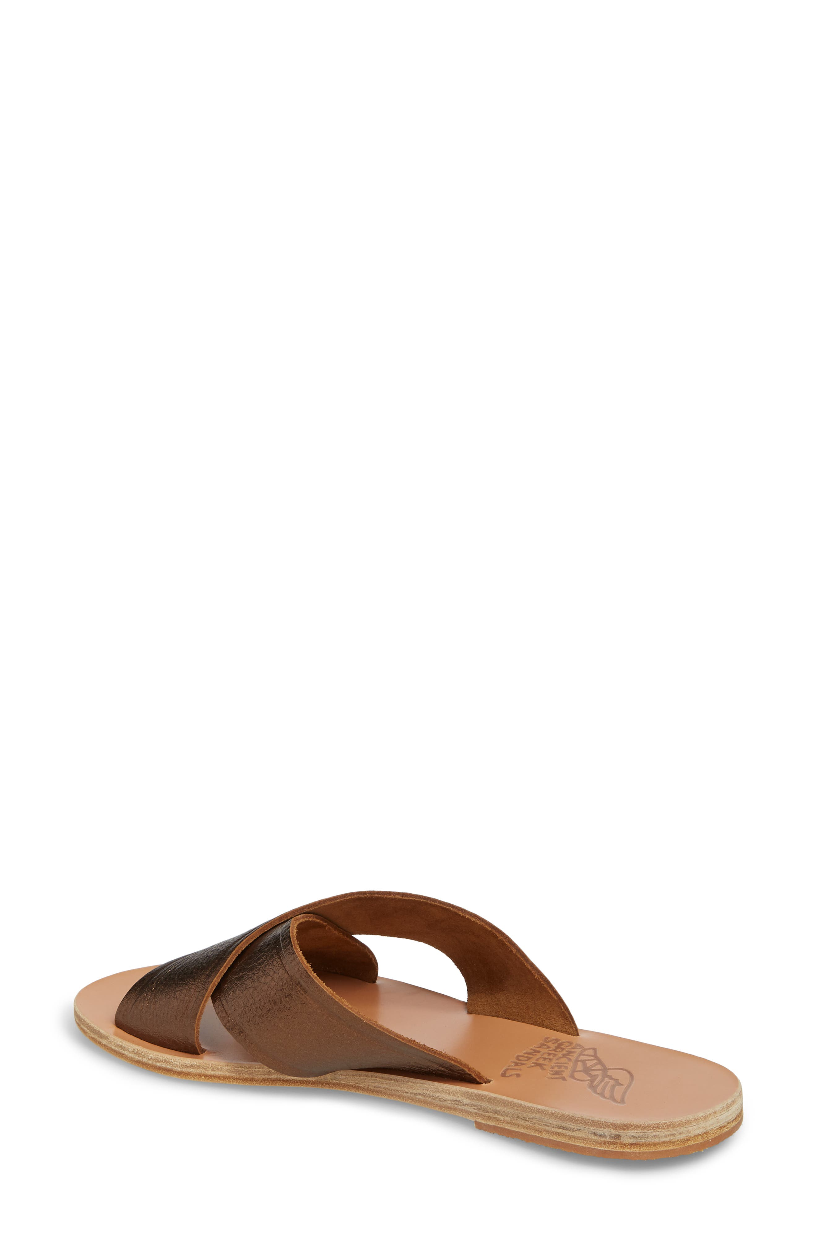 Thais Slide Sandal,                             Alternate thumbnail 2, color,                             Bronze/ Coco