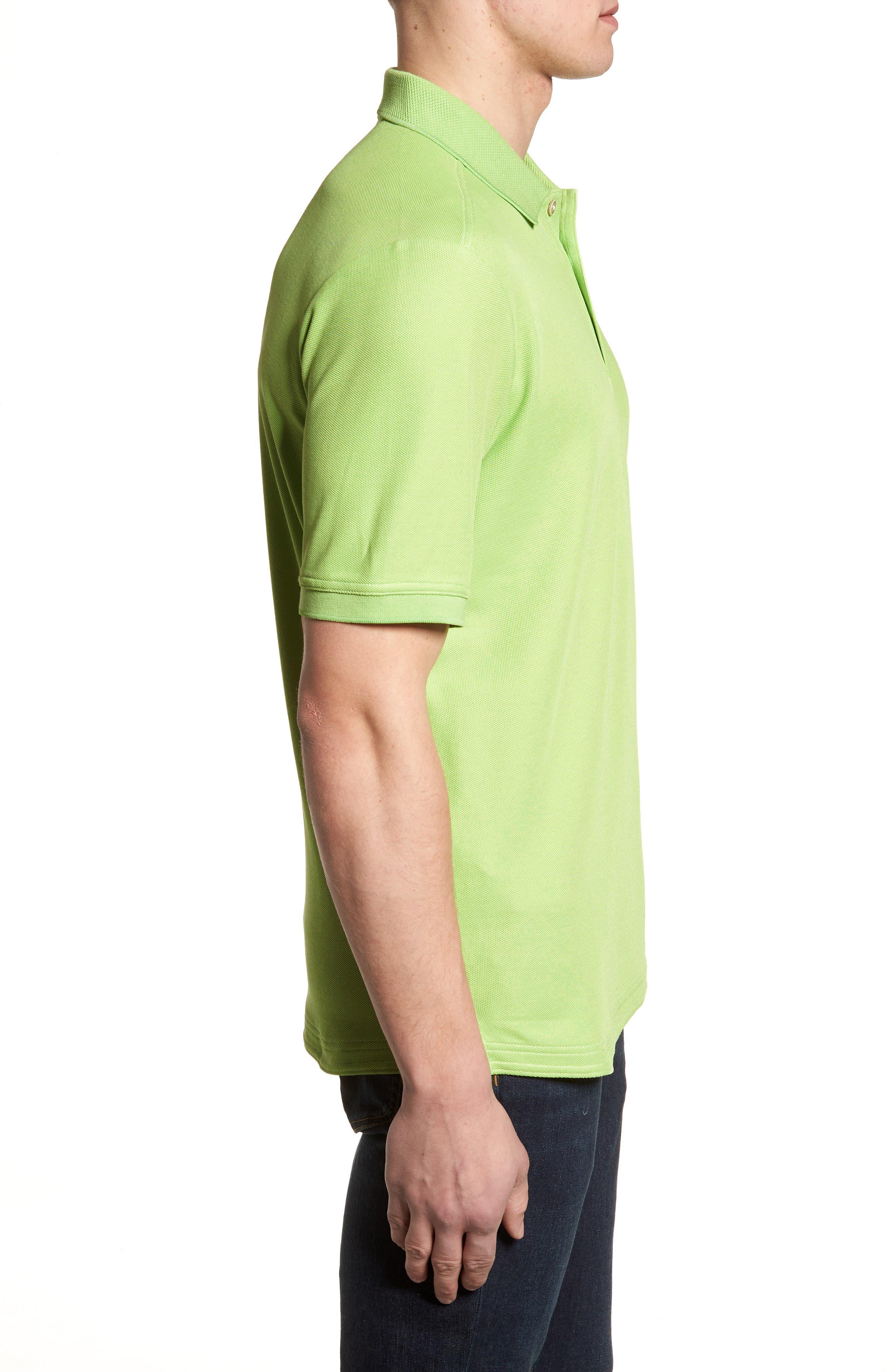 'The Emfielder' Original Fit Piqué Polo,                             Alternate thumbnail 5, color,                             Caicos Green