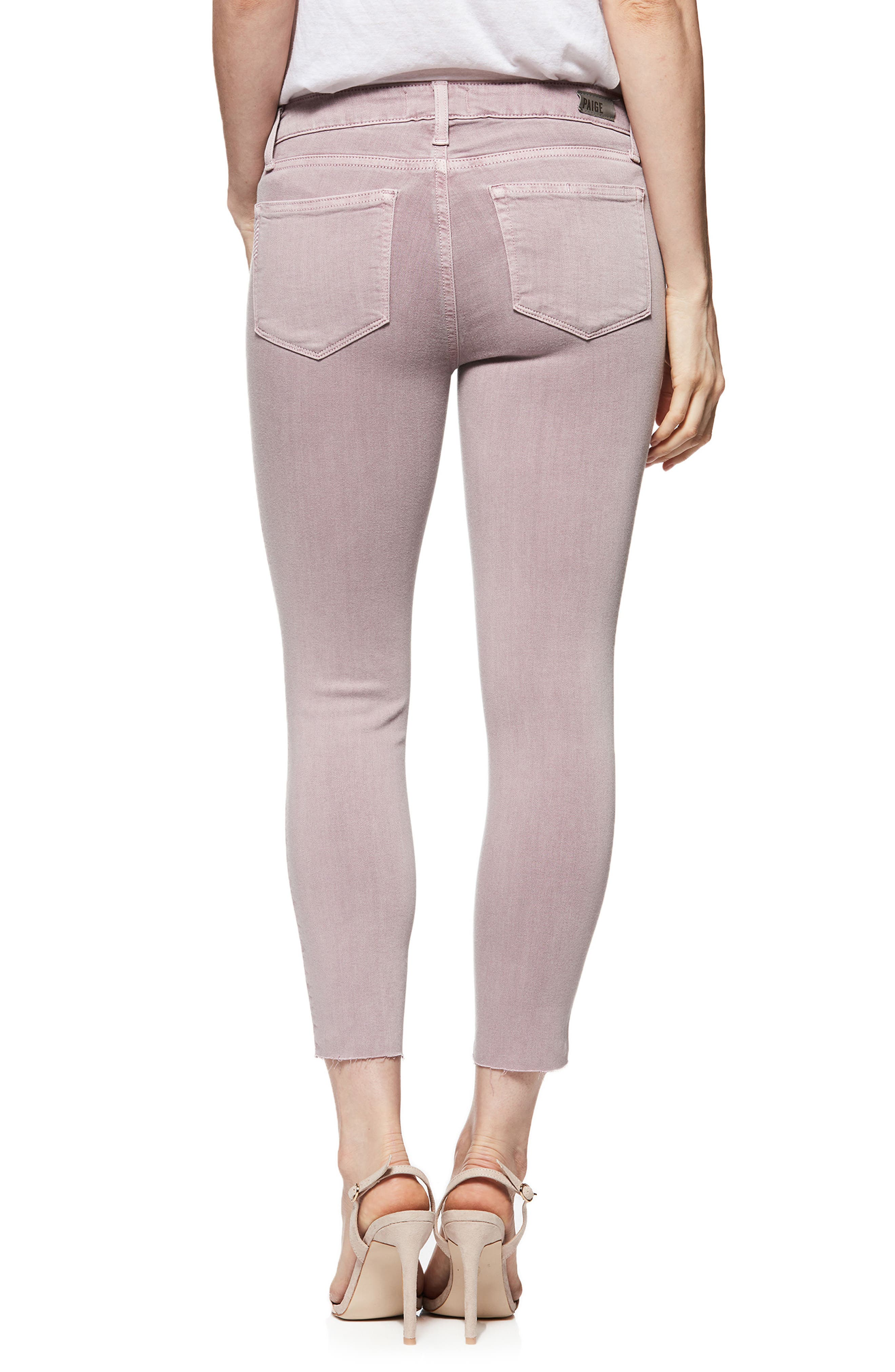 Transcend - Verdugo Raw Hem Crop Skinny Jeans,                             Alternate thumbnail 2, color,                             Vintage Lavendar Blooms