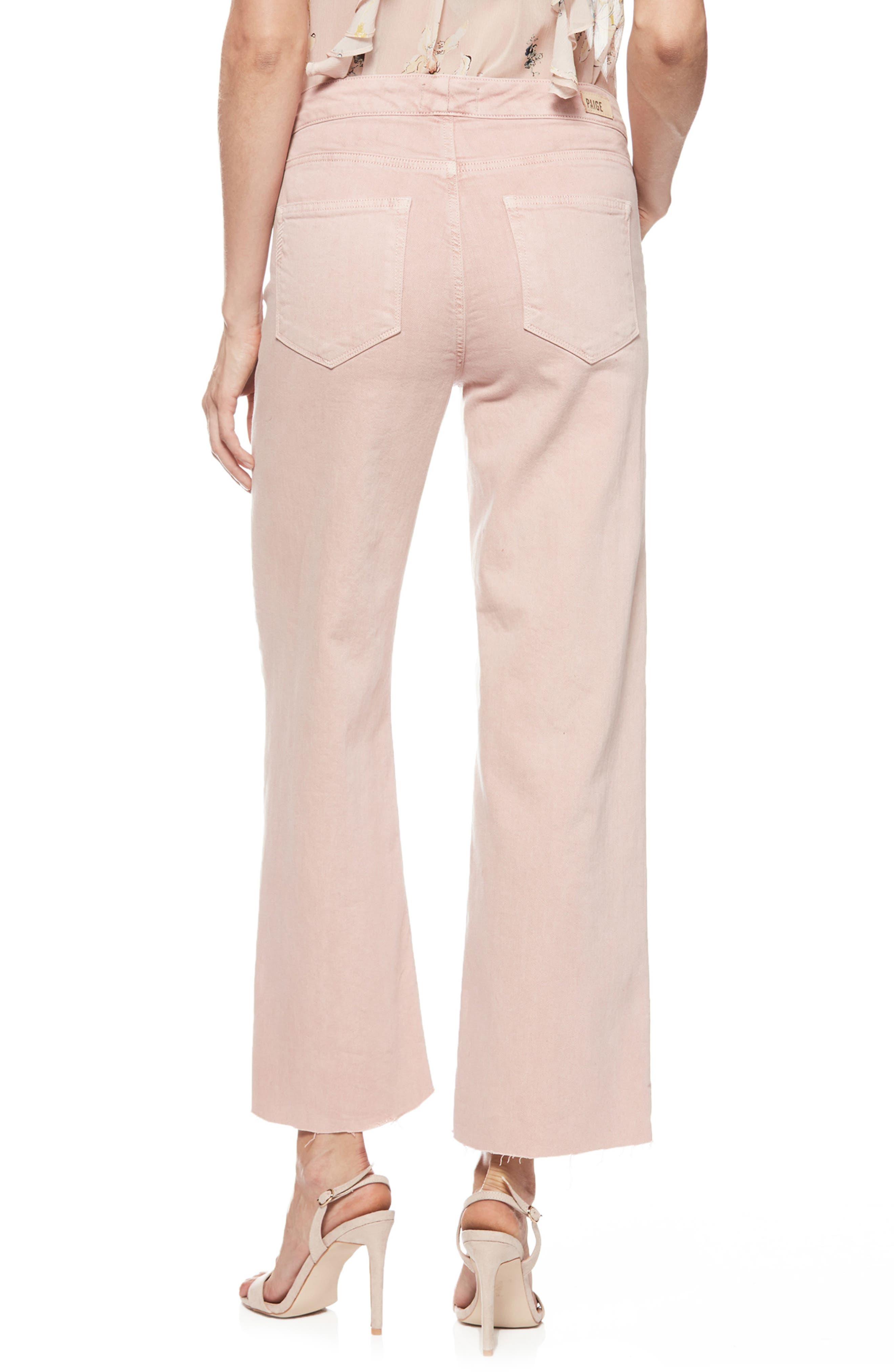 Nellie Knot Raw Hem Culotte Jeans,                             Alternate thumbnail 2, color,                             Vintage California Rose