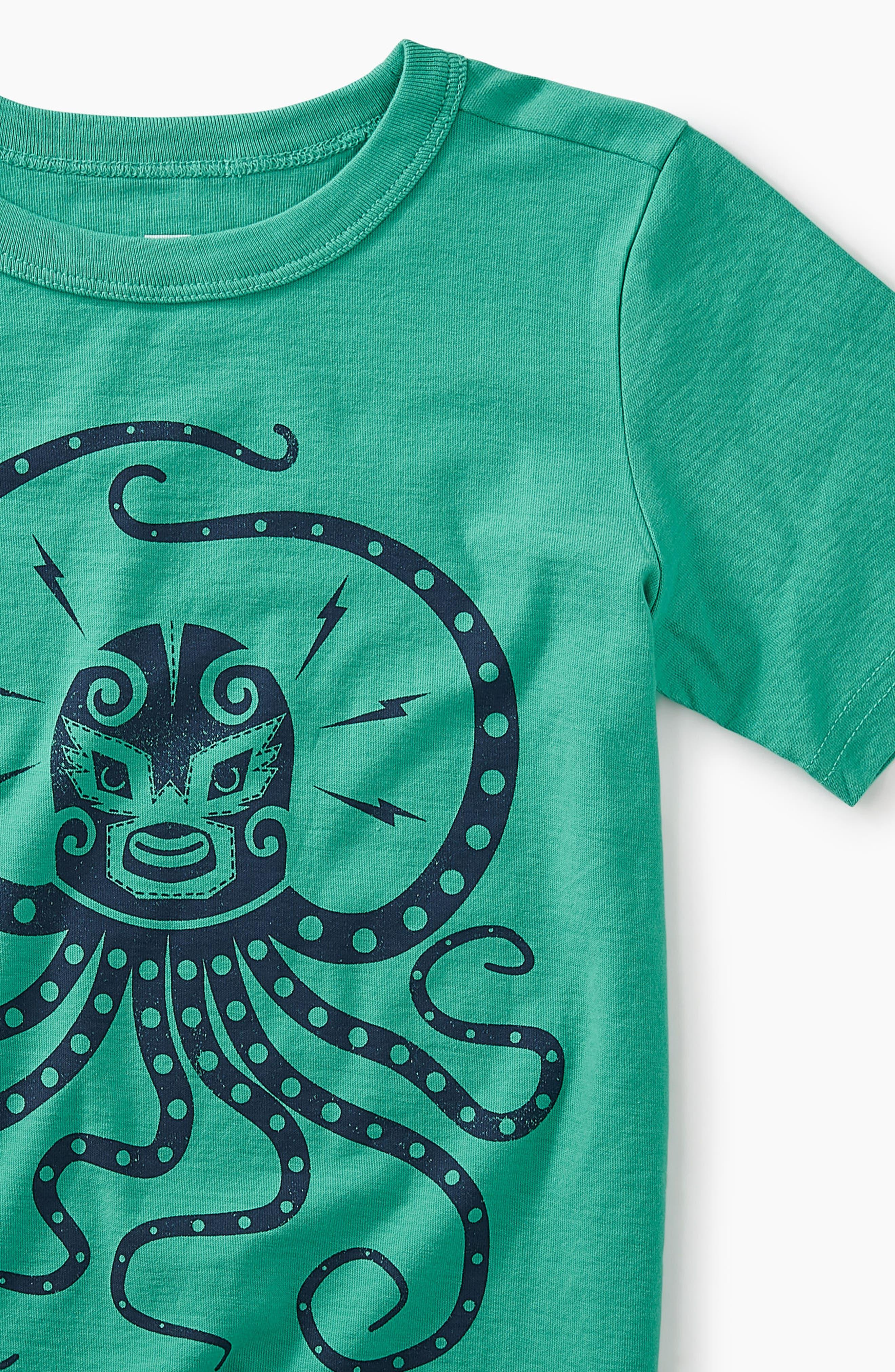 Octo Luchador Graphic T-Shirt,                             Alternate thumbnail 2, color,                             Green Pop