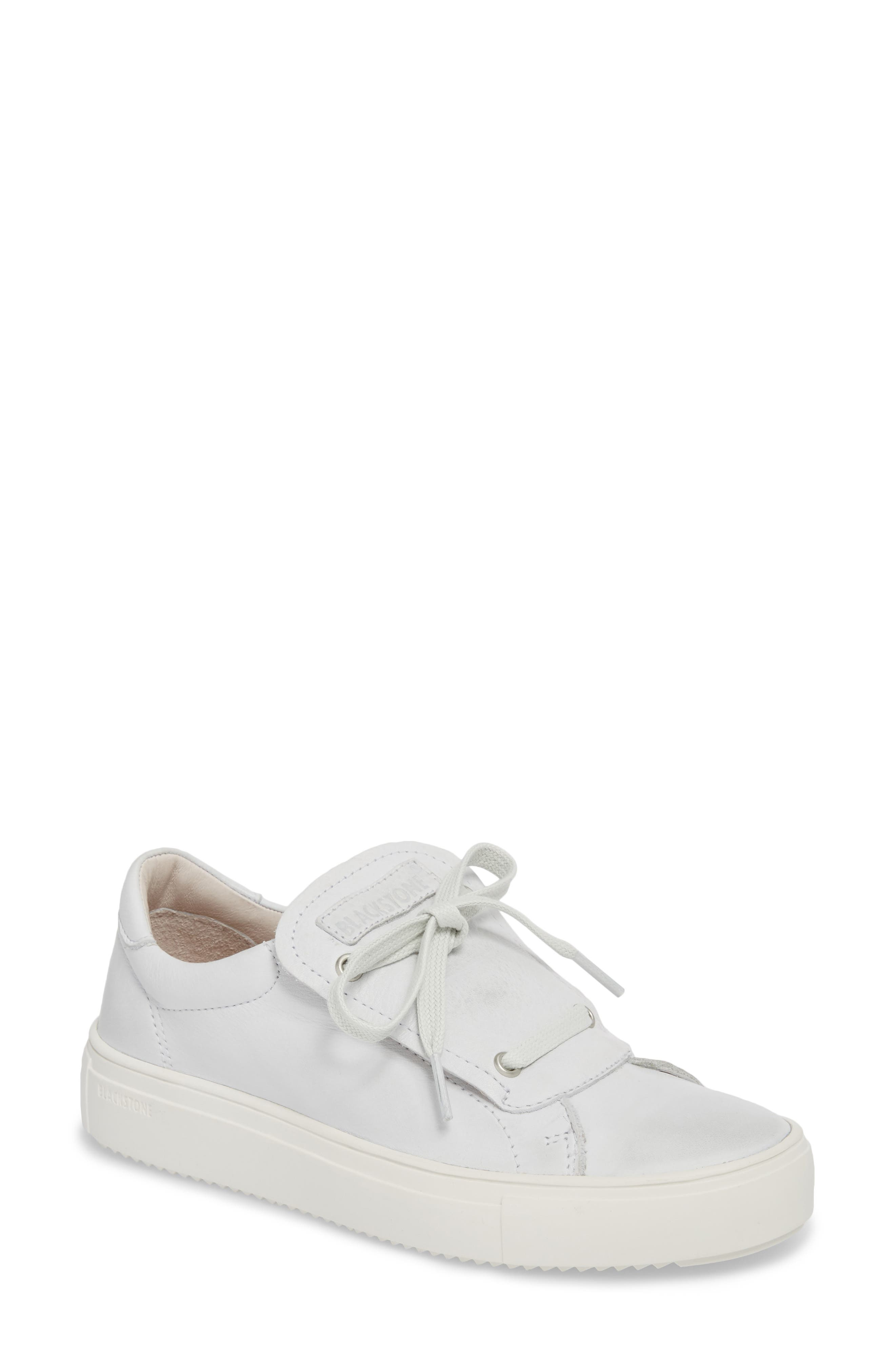 PL72 External Tongue Sneaker,                             Main thumbnail 1, color,                             White Leather