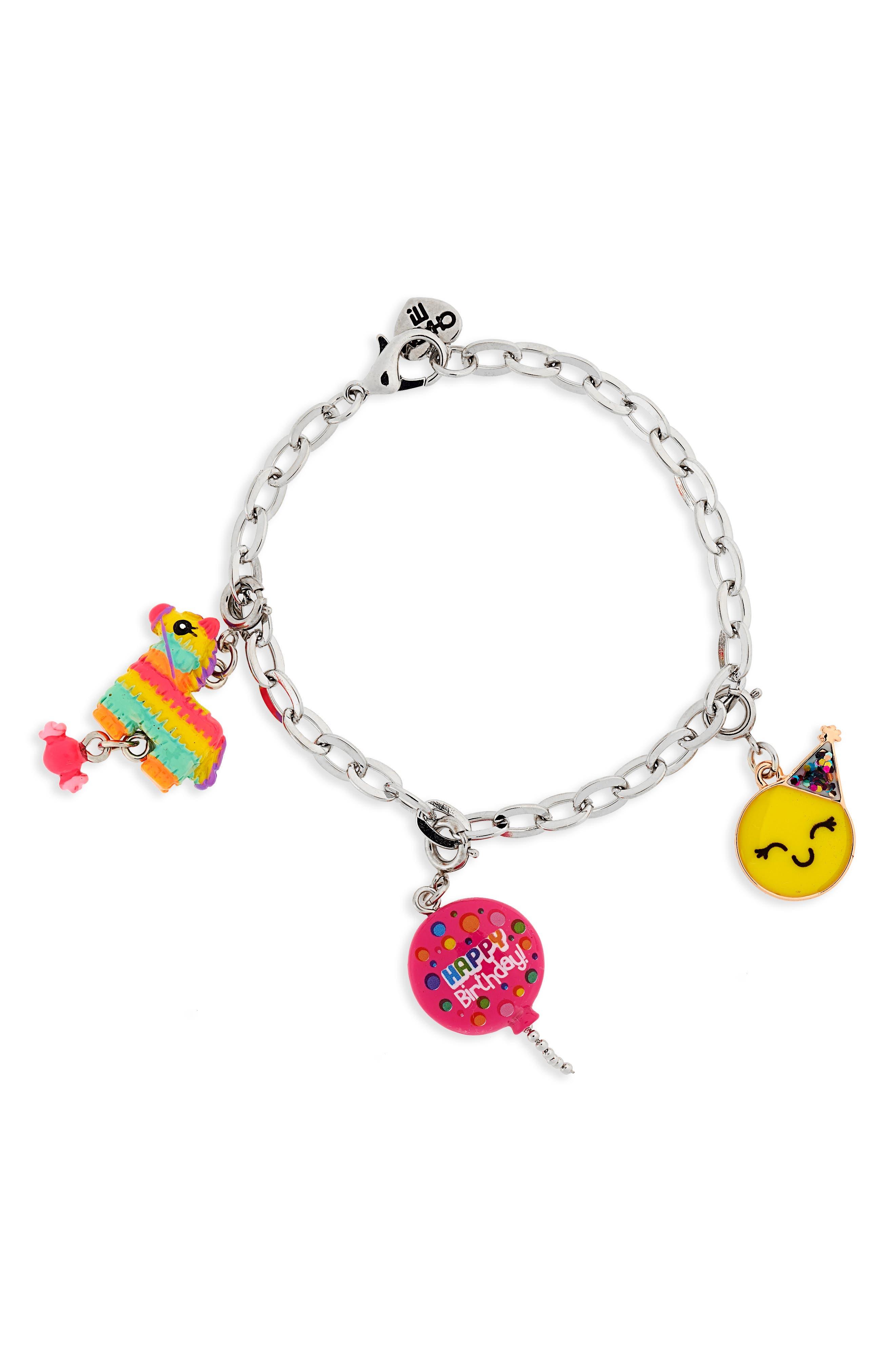 CHARM IT!<sup>®</sup> Birthday Charm Bracelet Gift Set,                             Alternate thumbnail 3, color,                             Multi