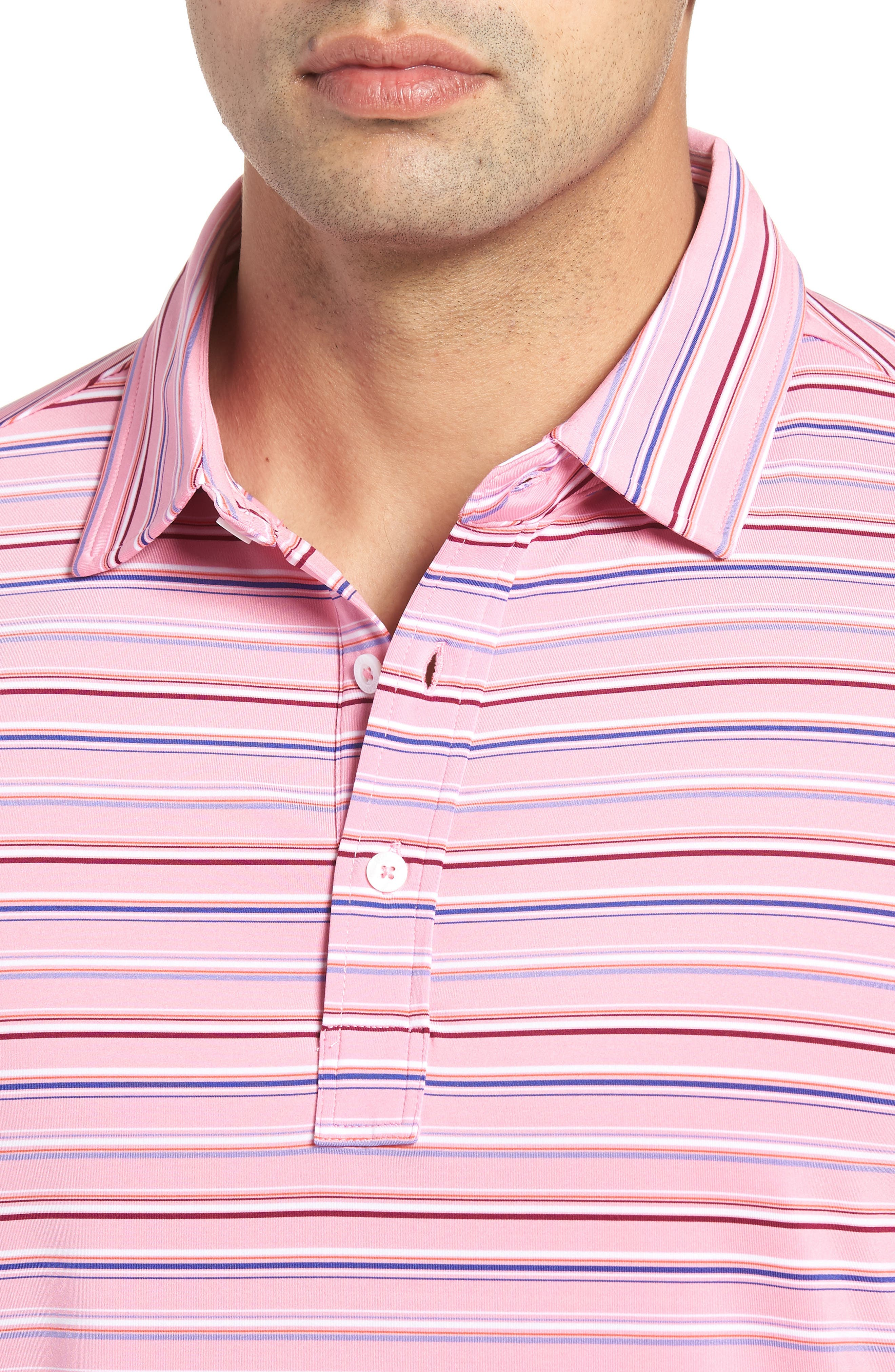 Knit Polo,                             Alternate thumbnail 4, color,                             Pink