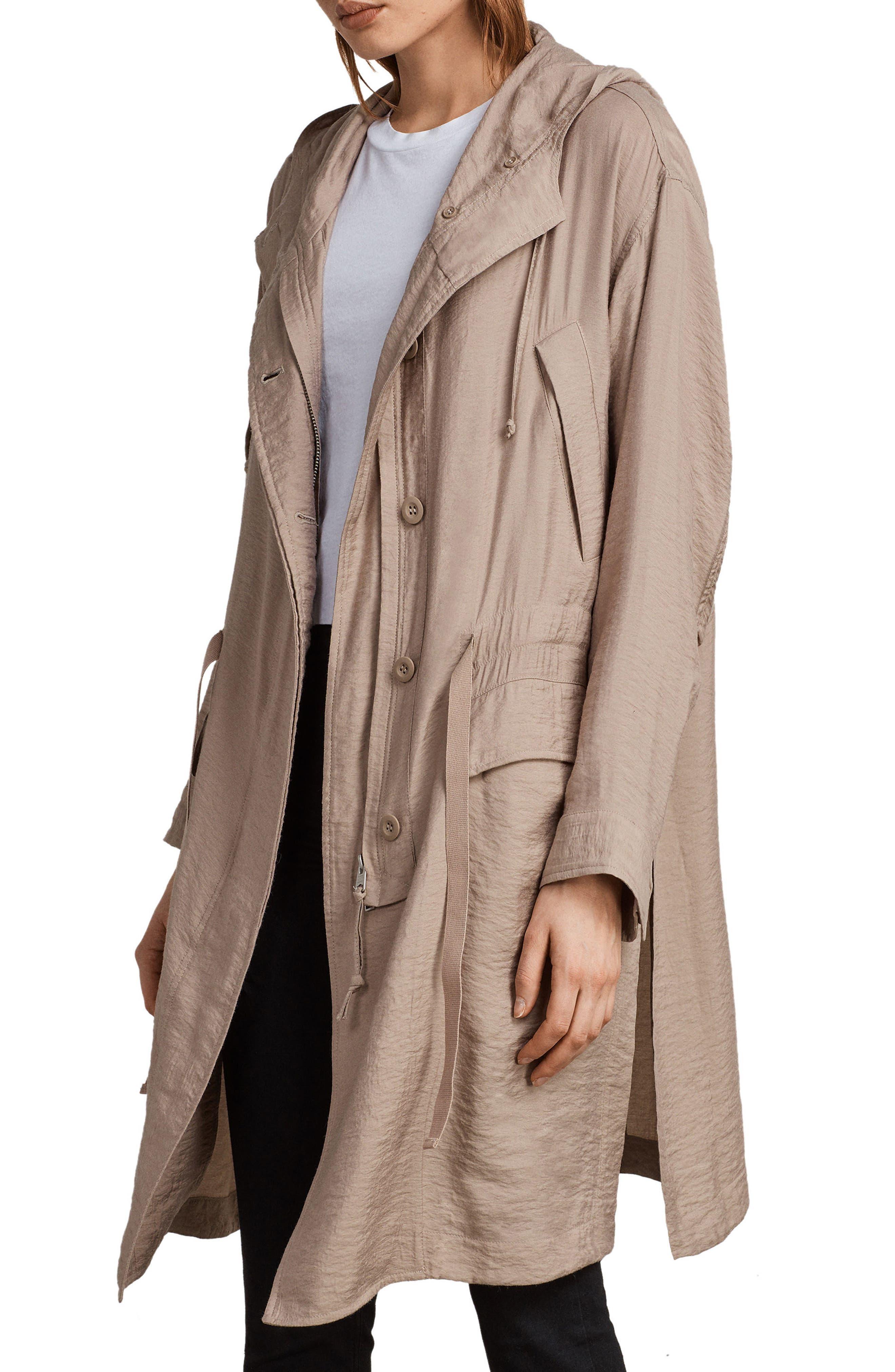 Kinsley Hooded Jacket,                             Alternate thumbnail 5, color,                             Dusty Pink