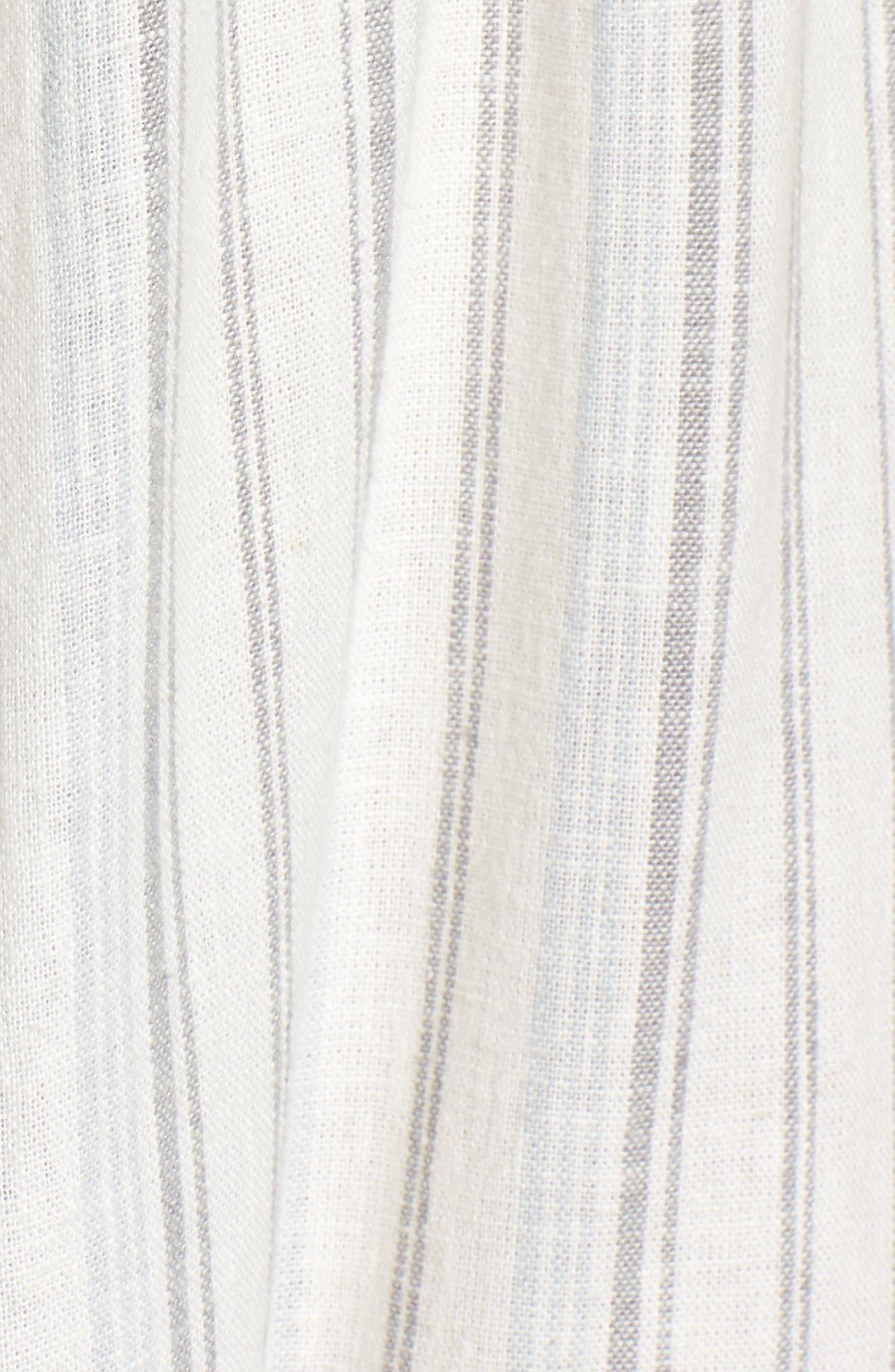 Stripe Apron Dress,                             Alternate thumbnail 5, color,                             Ivory Verigated Stripe