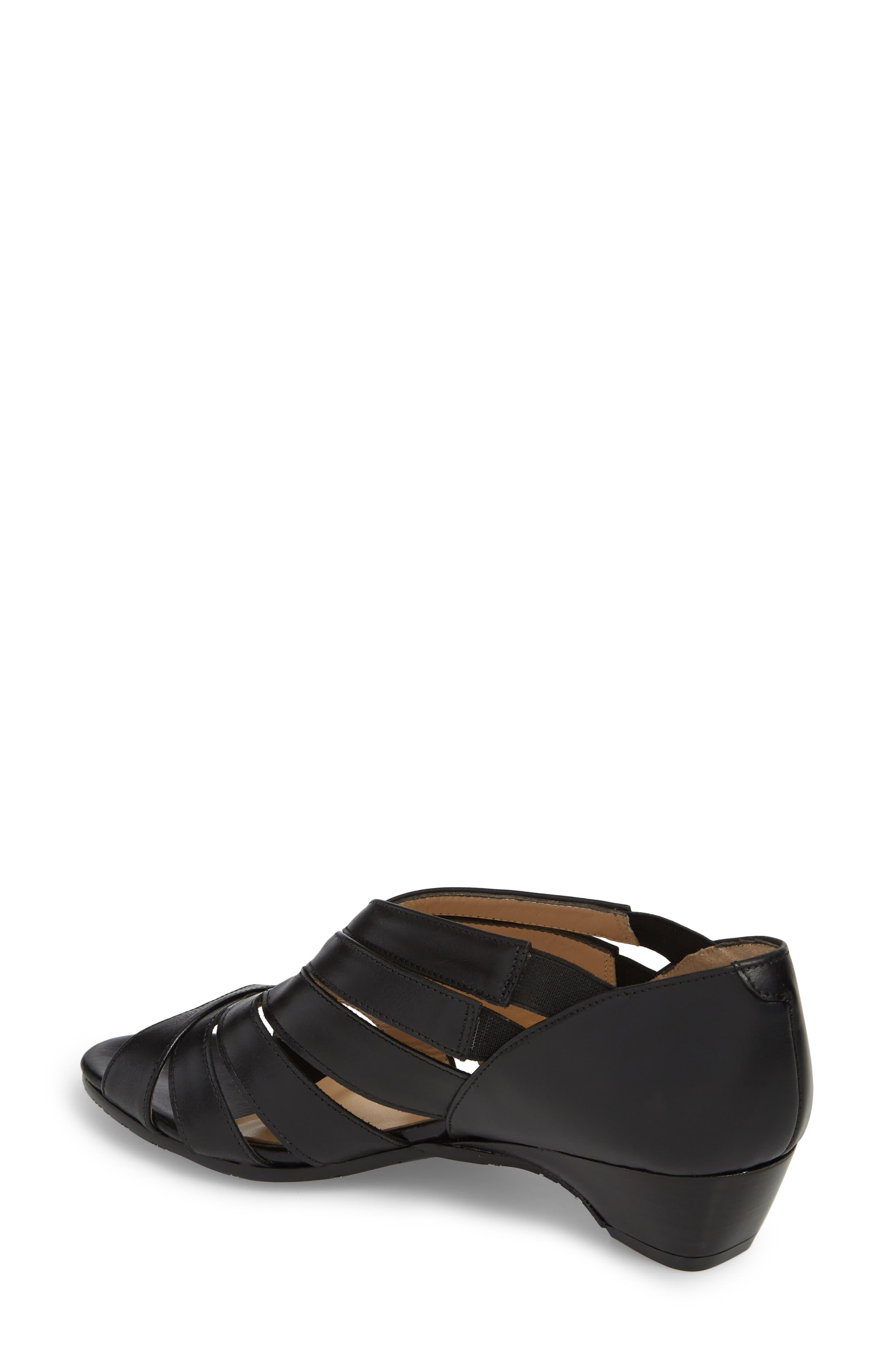 Demetra Sandal,                             Alternate thumbnail 2, color,                             Black Leather