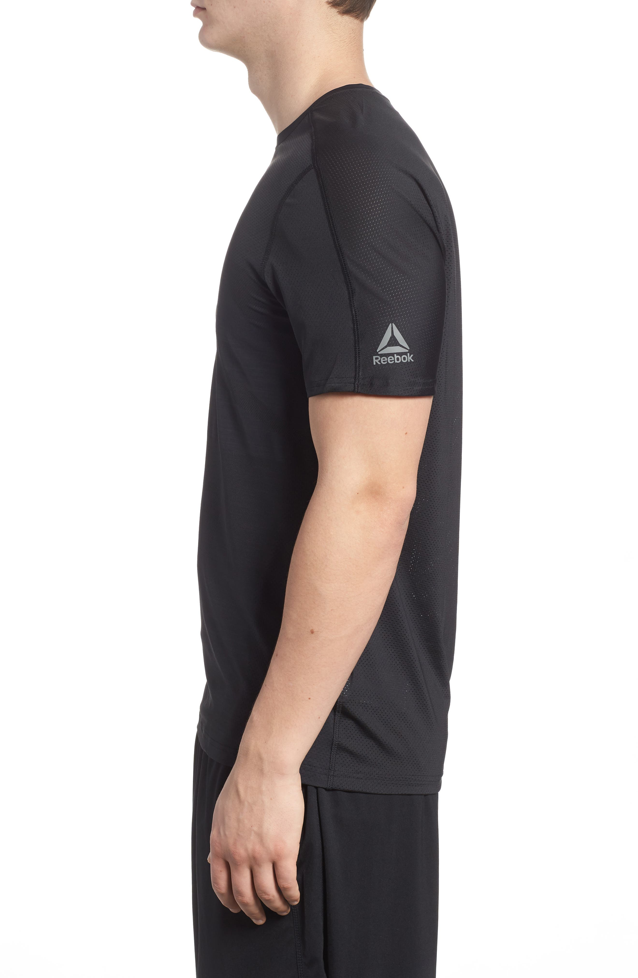ACTIVCHILL Vent Move Crewneck T-Shirt,                             Alternate thumbnail 3, color,                             Black