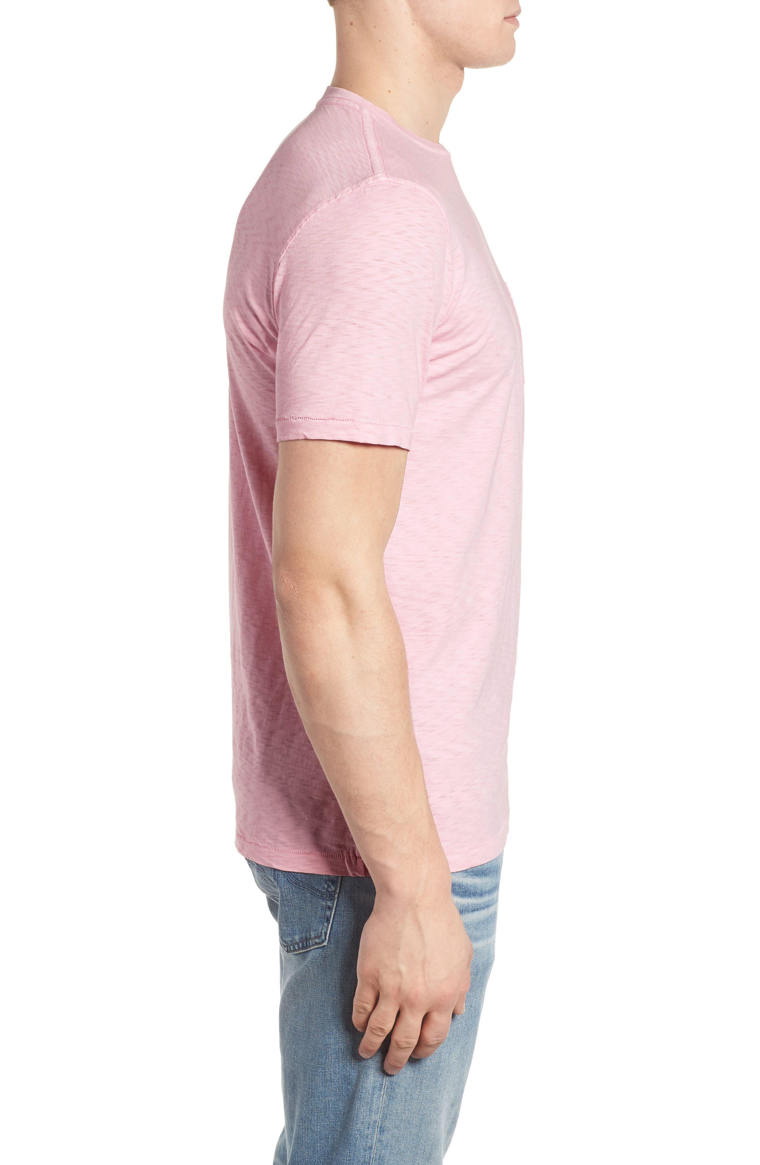 Slub Knit T-Shirt,                             Alternate thumbnail 7, color,                             Pink