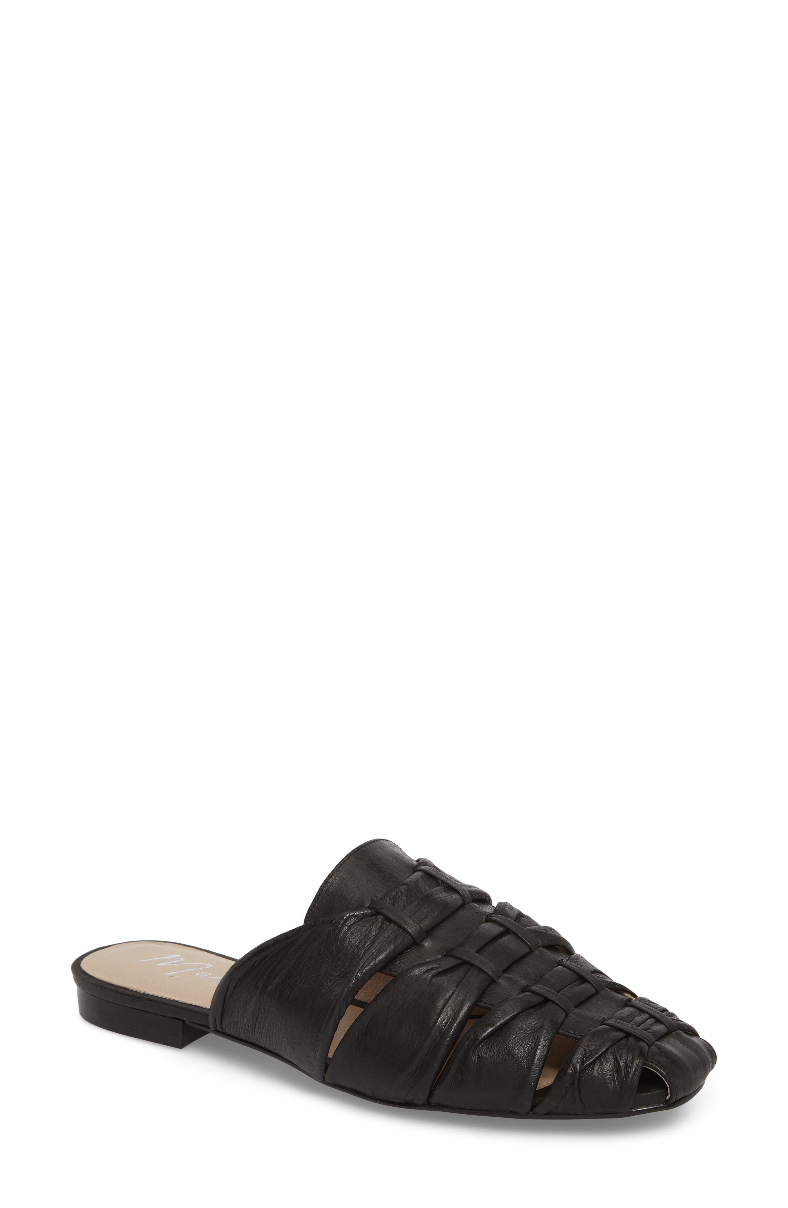Evangeline Mule,                         Main,                         color, Black Leather