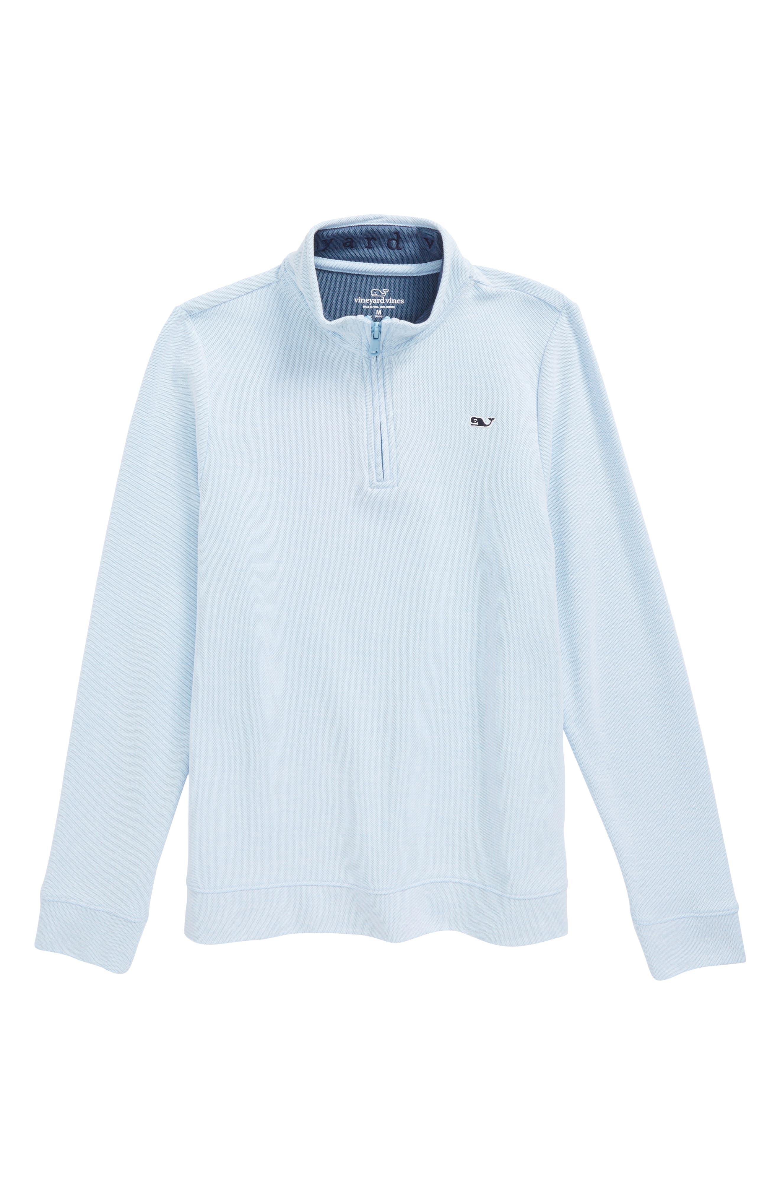Quarter Zip Sweater,                             Main thumbnail 1, color,                             Ocean Breeze