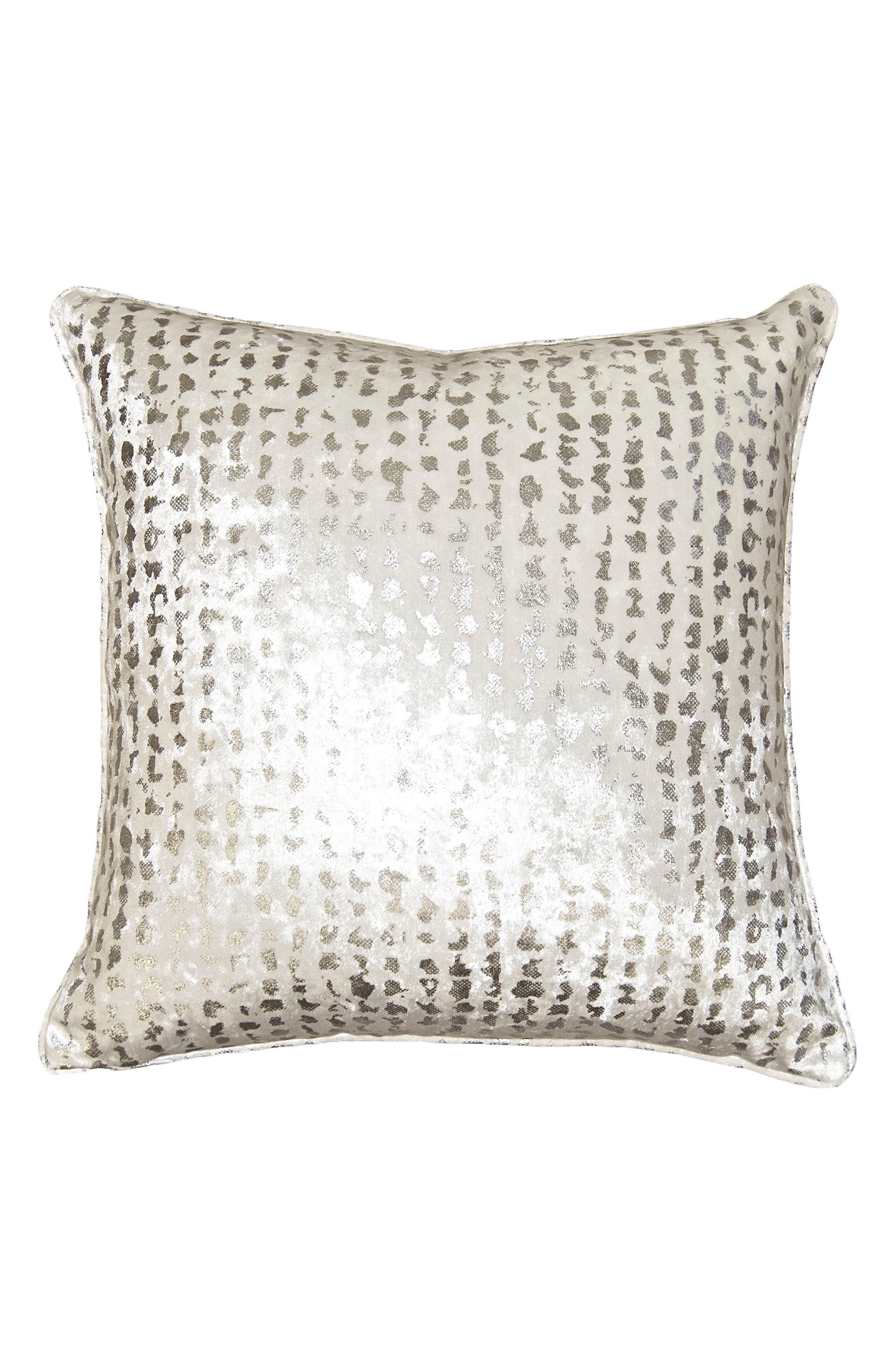 Silver Dots Accent Pillow,                             Main thumbnail 1, color,                             Silver